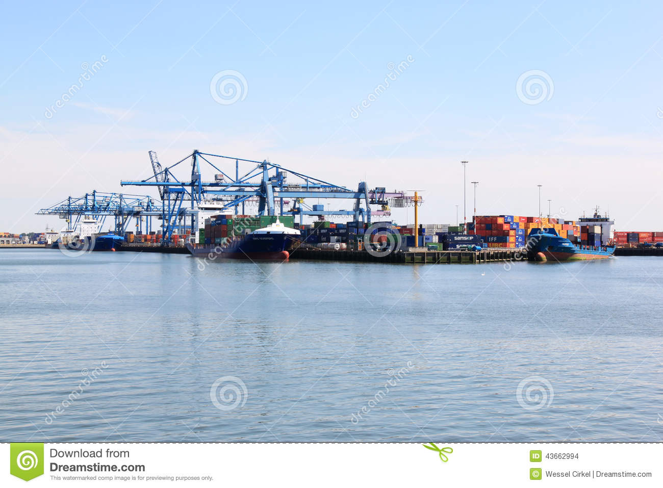 Vessels in Rotterdam port, the Netherlands