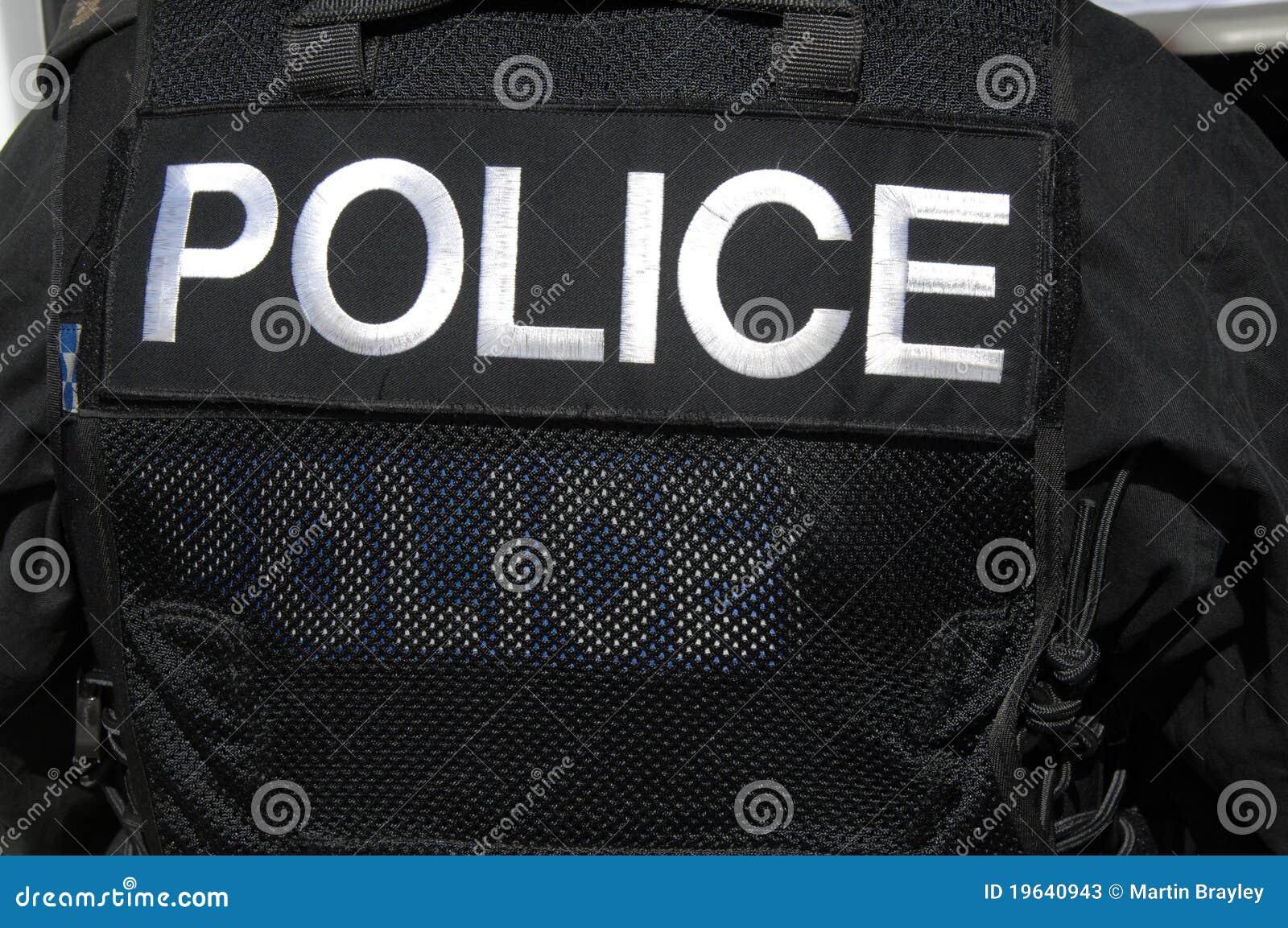 Vest för flugsmälla för logotjänstemanpolis s