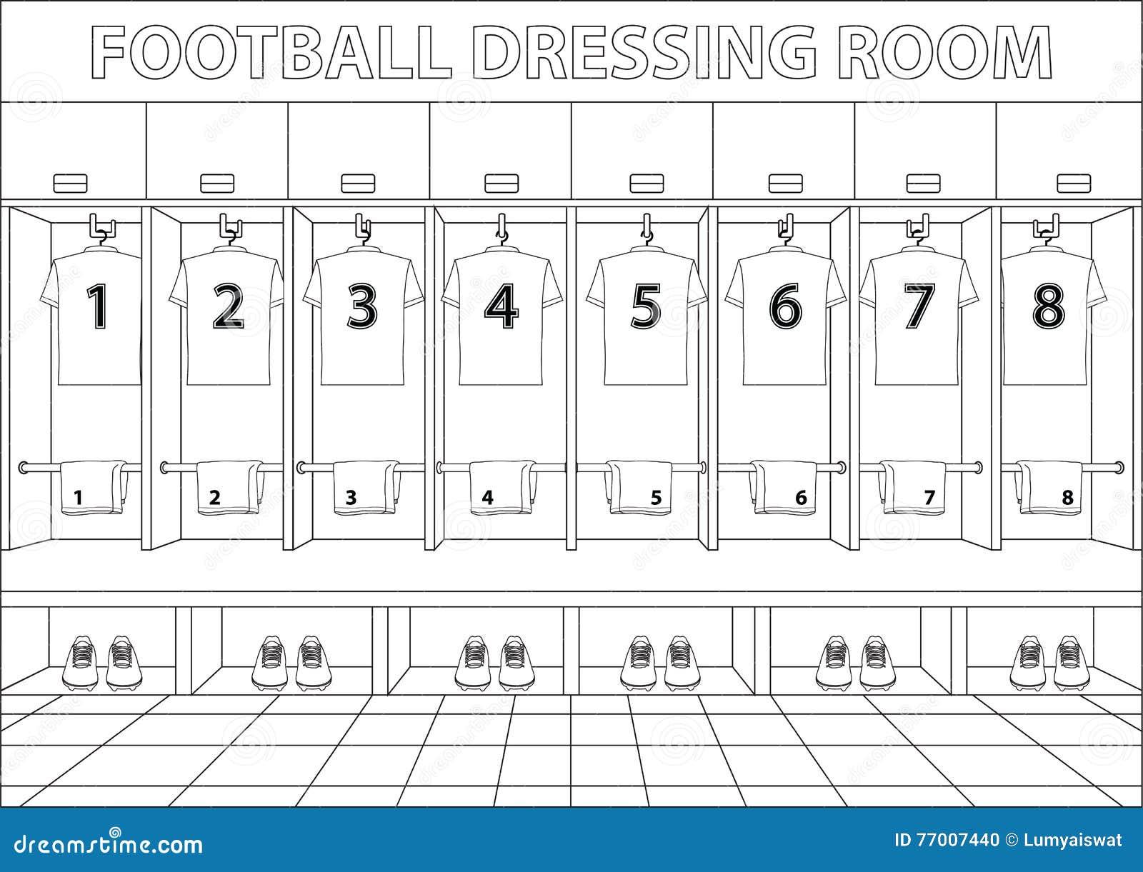 Vestiaire du football vecteur de conception de style de for Dressing 3d en ligne