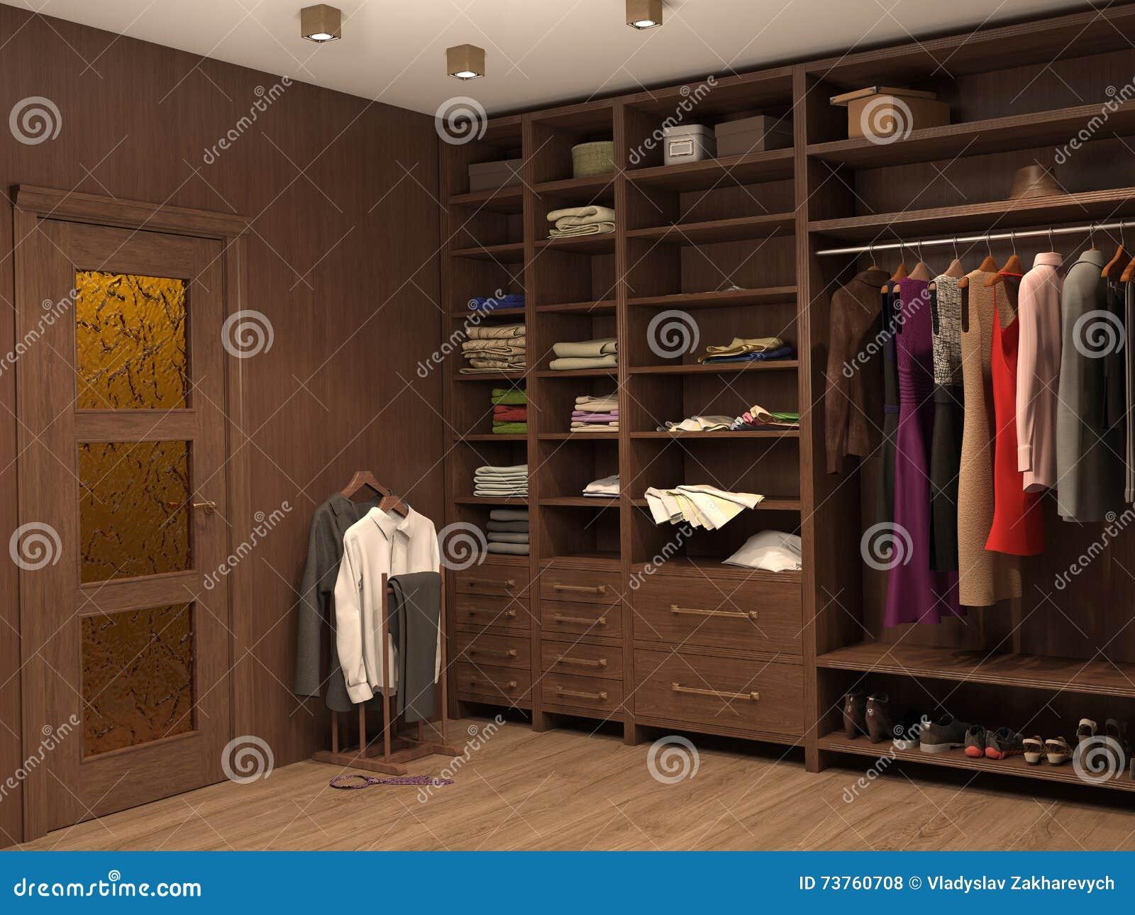 Vestiaire intérieur d une maison moderne illustration stock