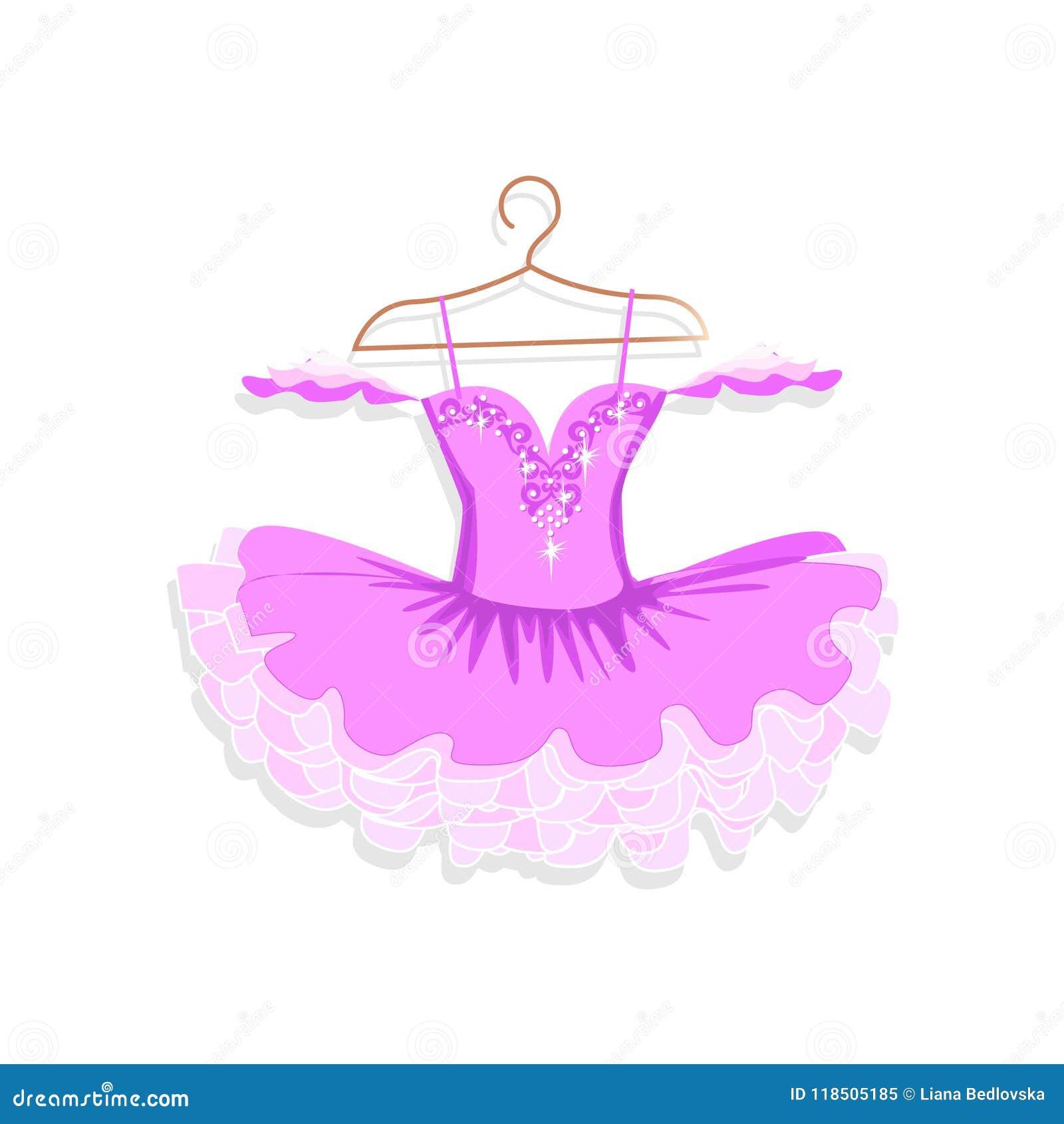 Vestido da dança com sparkles em um gancho
