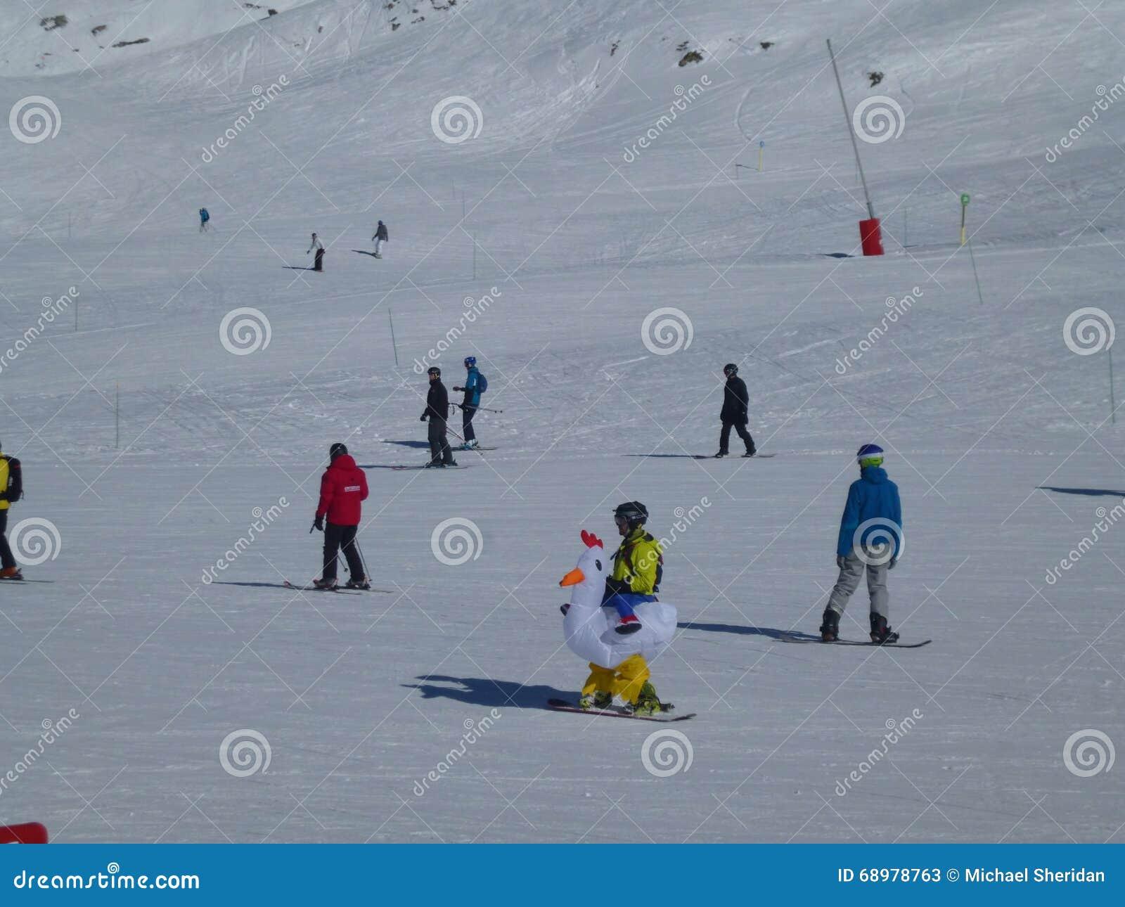 Vestido de lujo de esquí