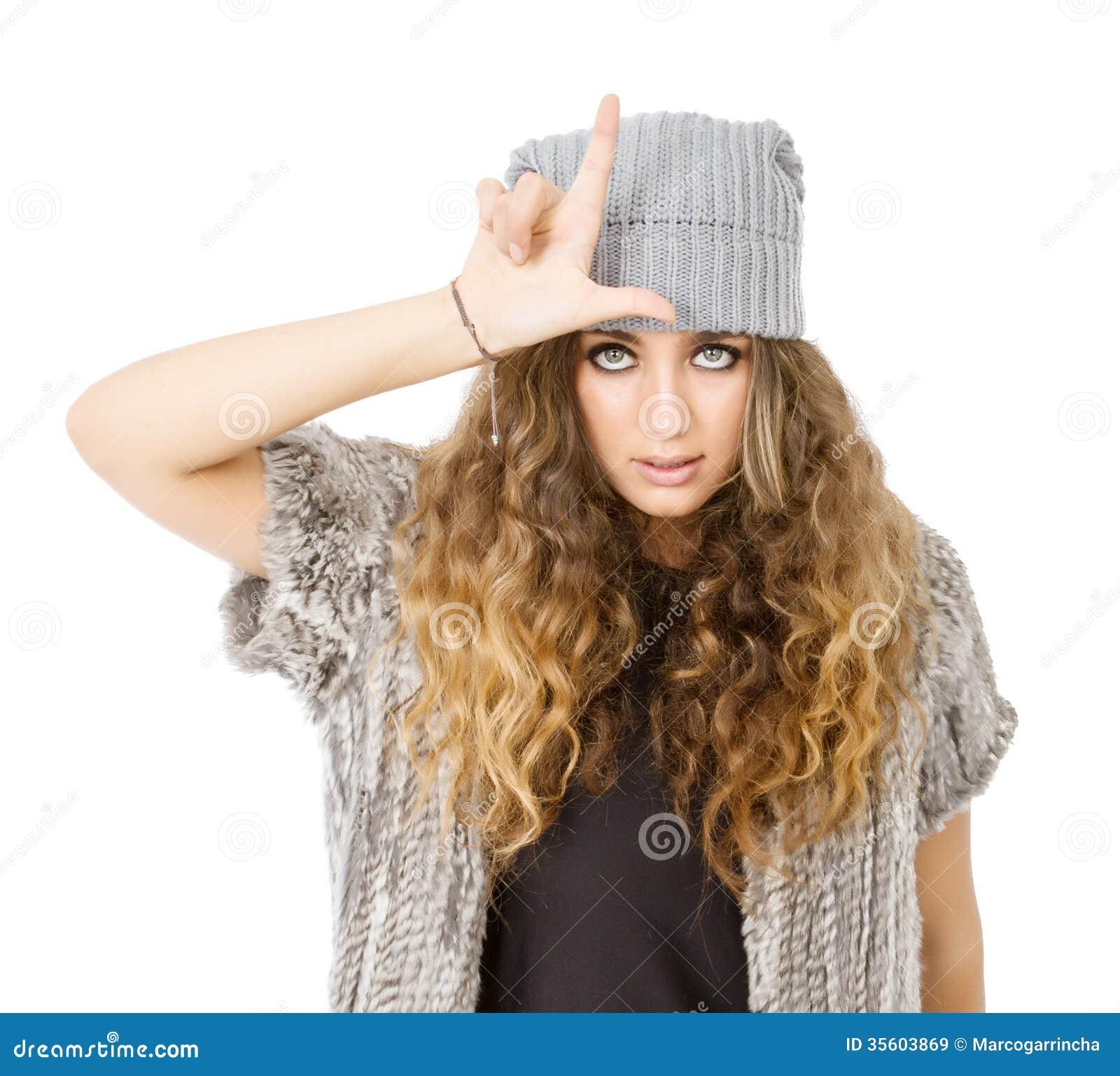 Vestido del invierno para una muchacha del perdedor