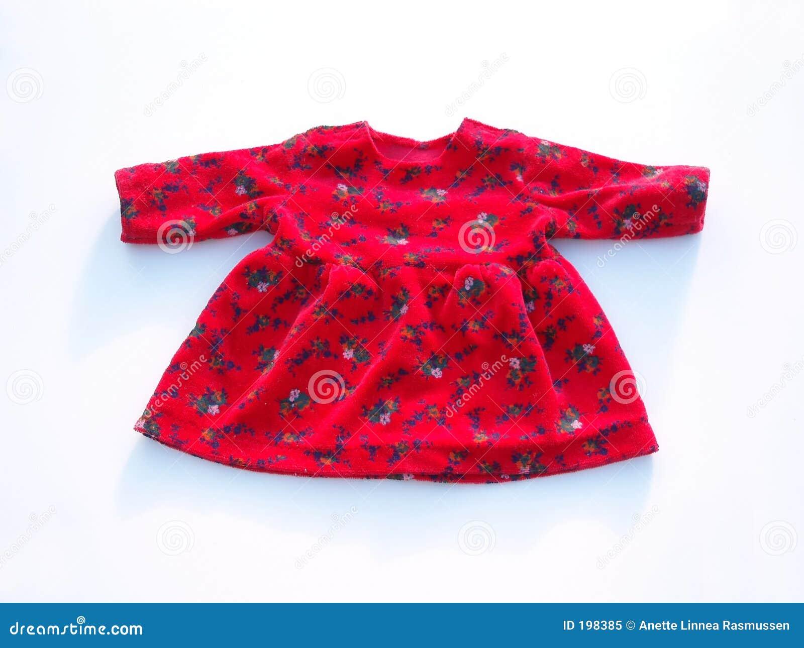 Vestido vermelho da boneca