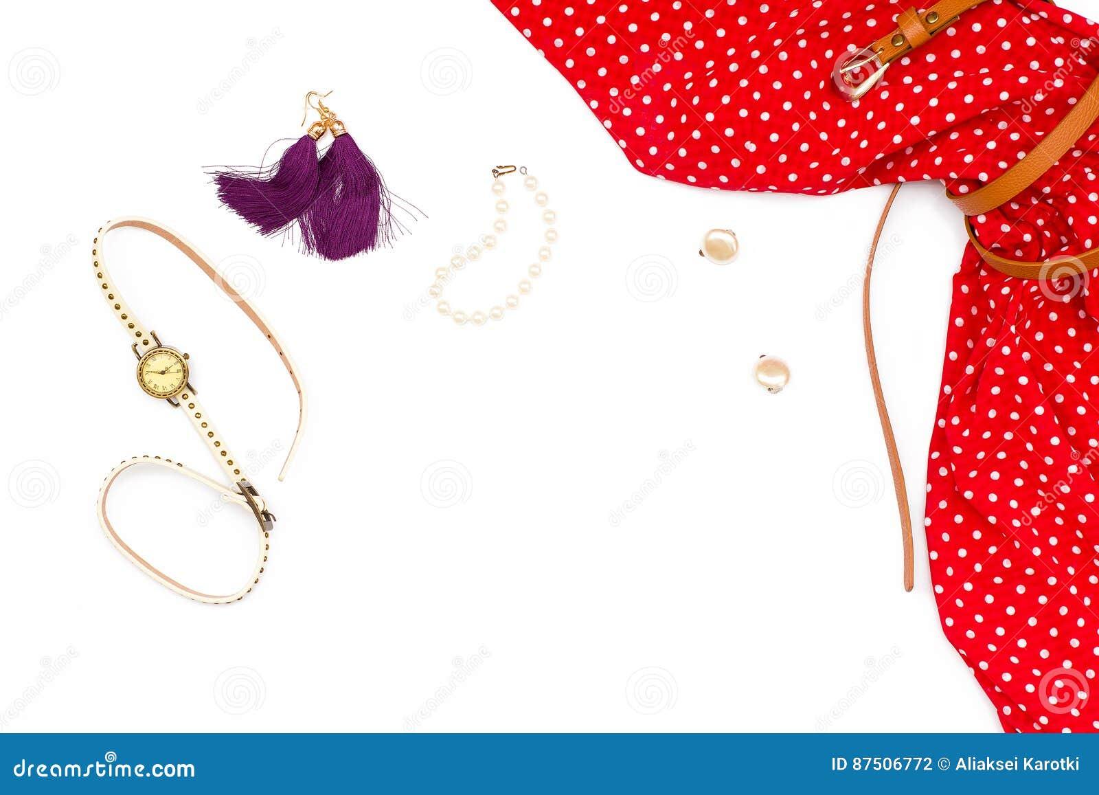 850718a2f06 Vestido vermelho feminino da configuração lisa