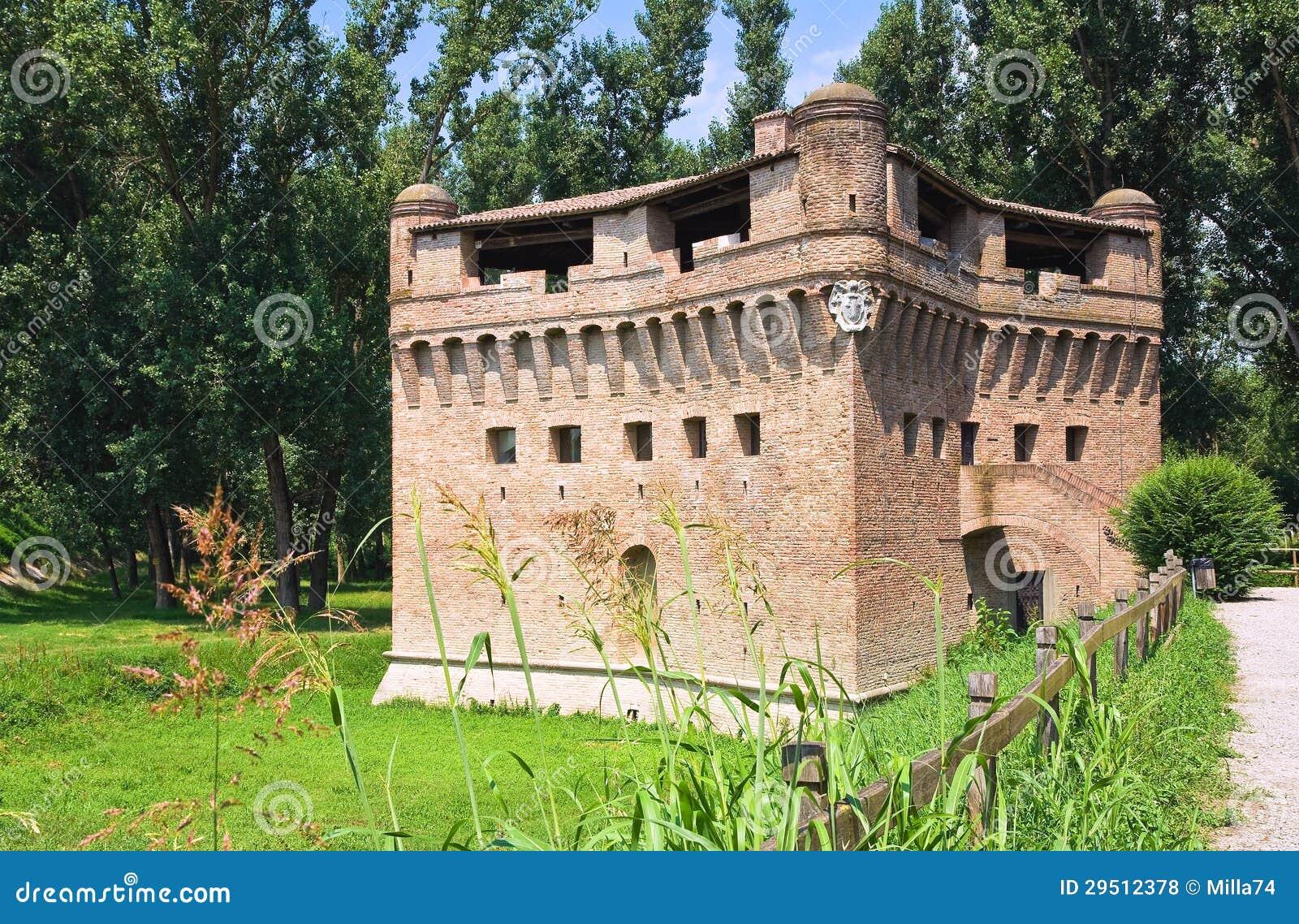 Vesting Rocca Stellata. Bondeno. Emilia-Romagna. Italië.
