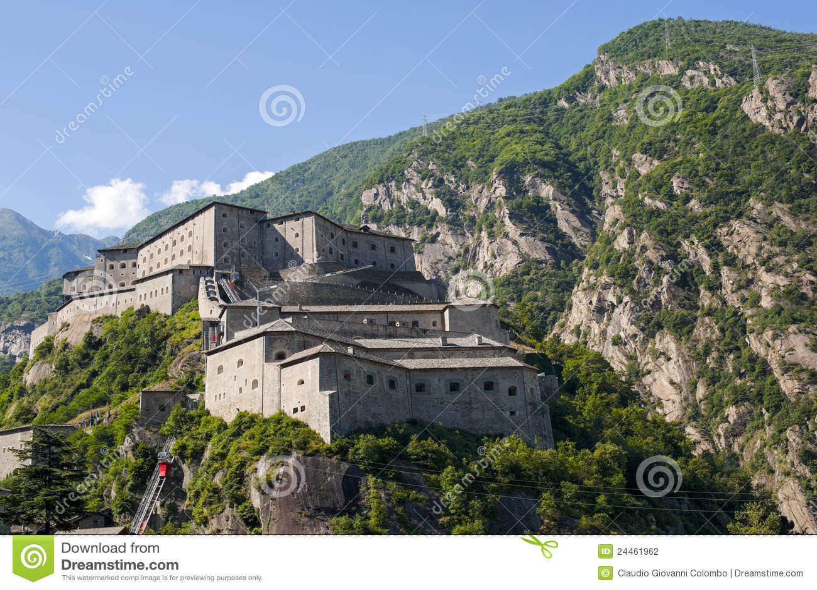 Vesting van Bard (Aosta, Italië)