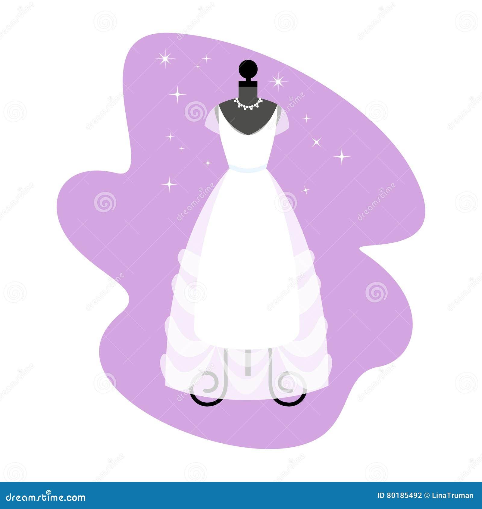 9a2f4bb65e15 Vestito Da Cerimonia Nuziale Abito Bianco Alla Moda Sul Manichino ...
