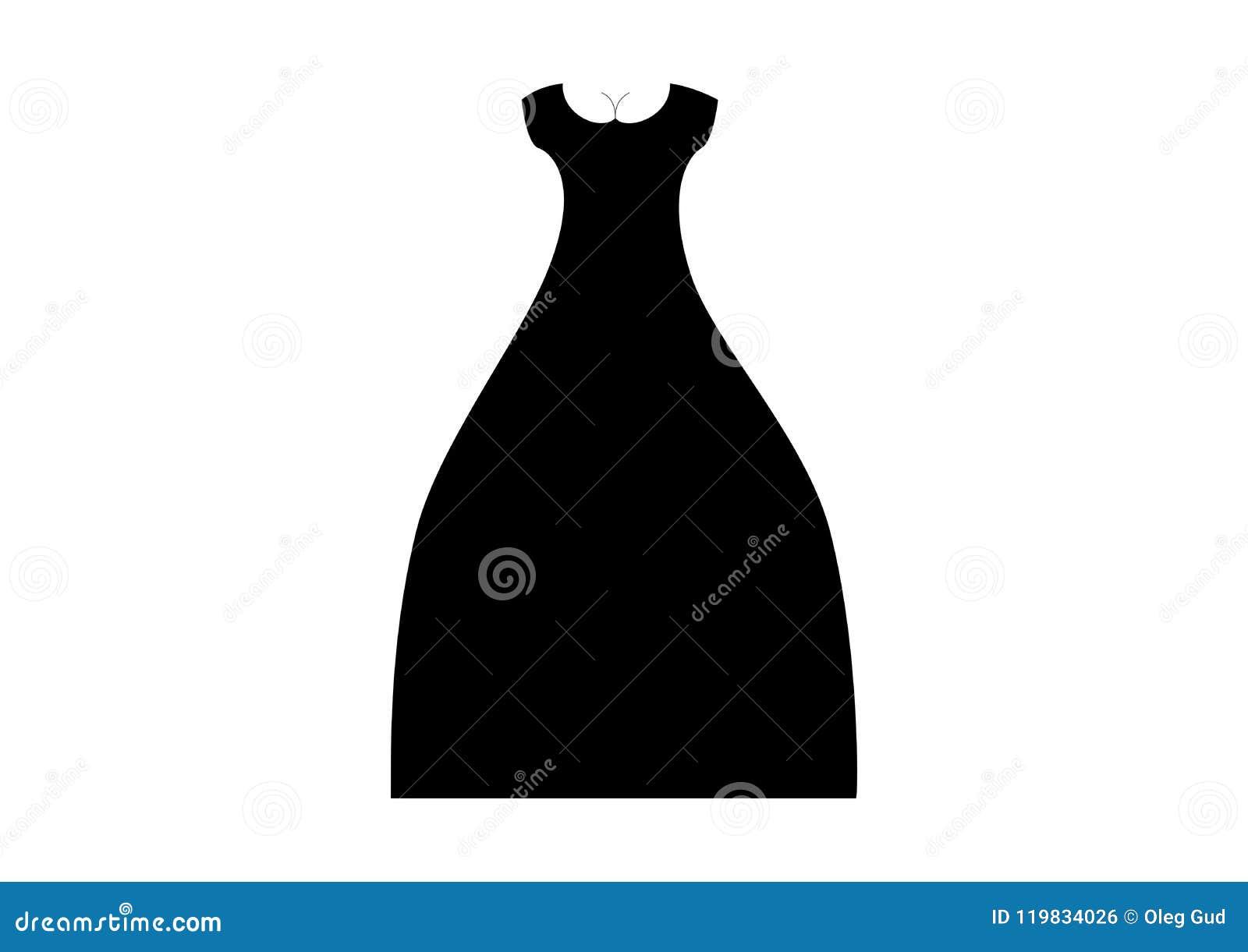 54d935af69ec Vestito da sera dal nero del ` s delle donne con le brevi maniche ed i seni  di una scollatura Illustrazione di vettore del vestito dalle signore