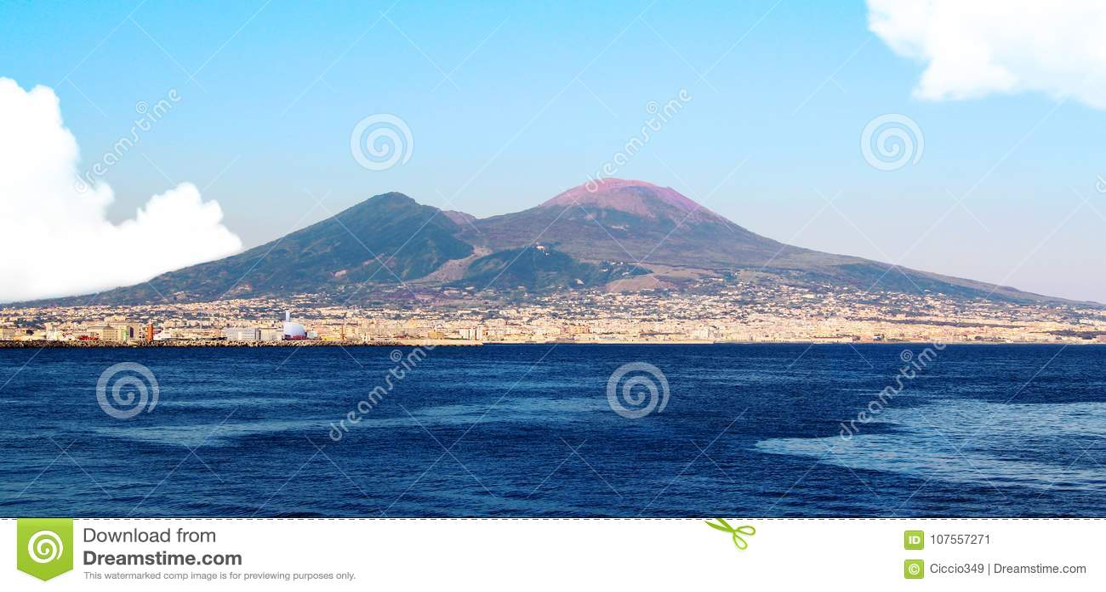Vesuvio de IL del ed del golfo de Napoli IL