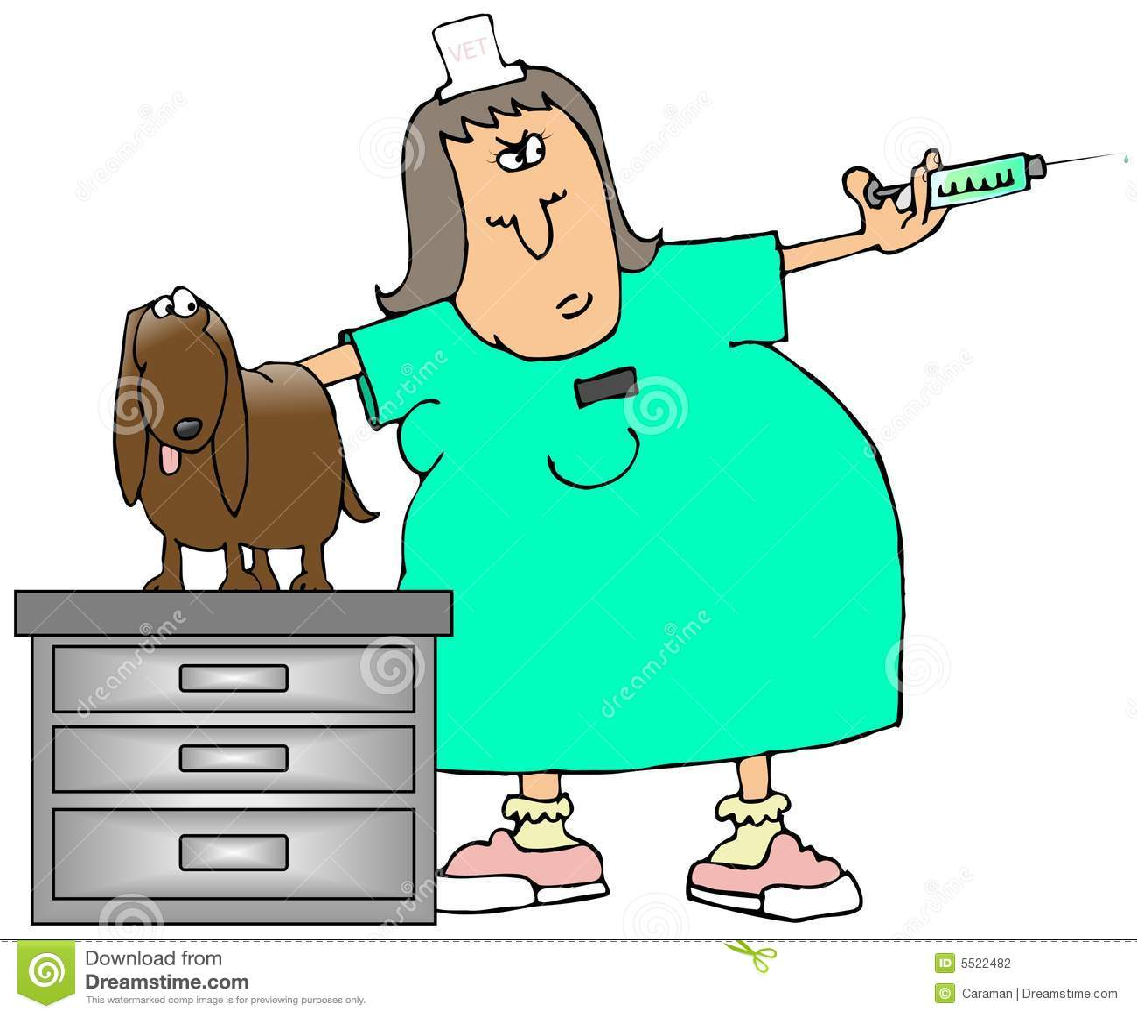 Woman vet and pets. Woman veterinarian tending to a dog. a ...   Cartoon Vet Tech