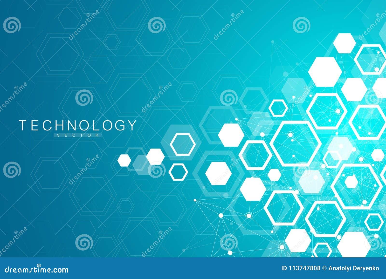 Vetenskaplig molekylbakgrund för medicin, vetenskap, teknologi, kemi Tapet eller baner med DNAmolekylar
