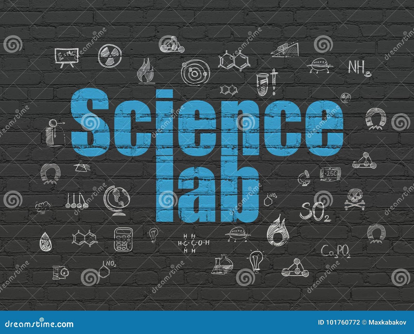 Vetenskapsbegrepp: Vetenskapslabb på väggbakgrund