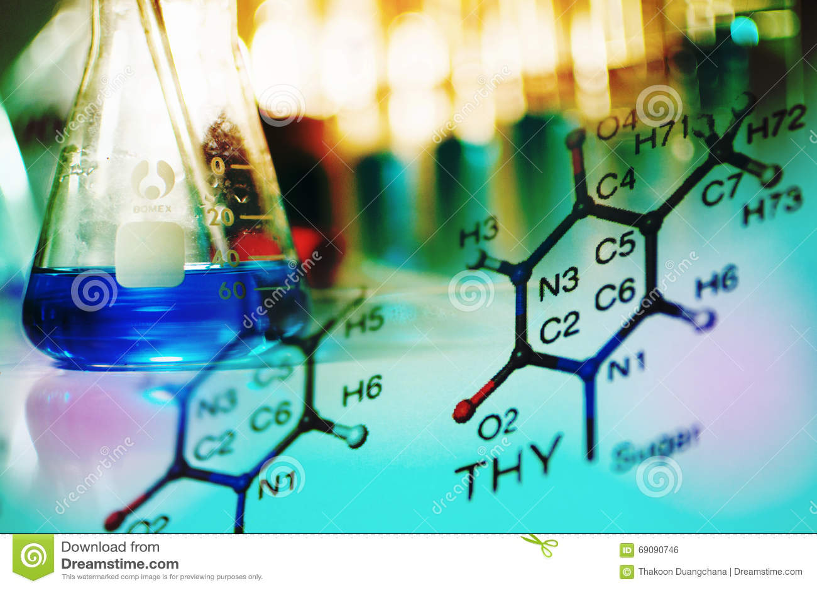Vetenskapslabb med kemiskt tema