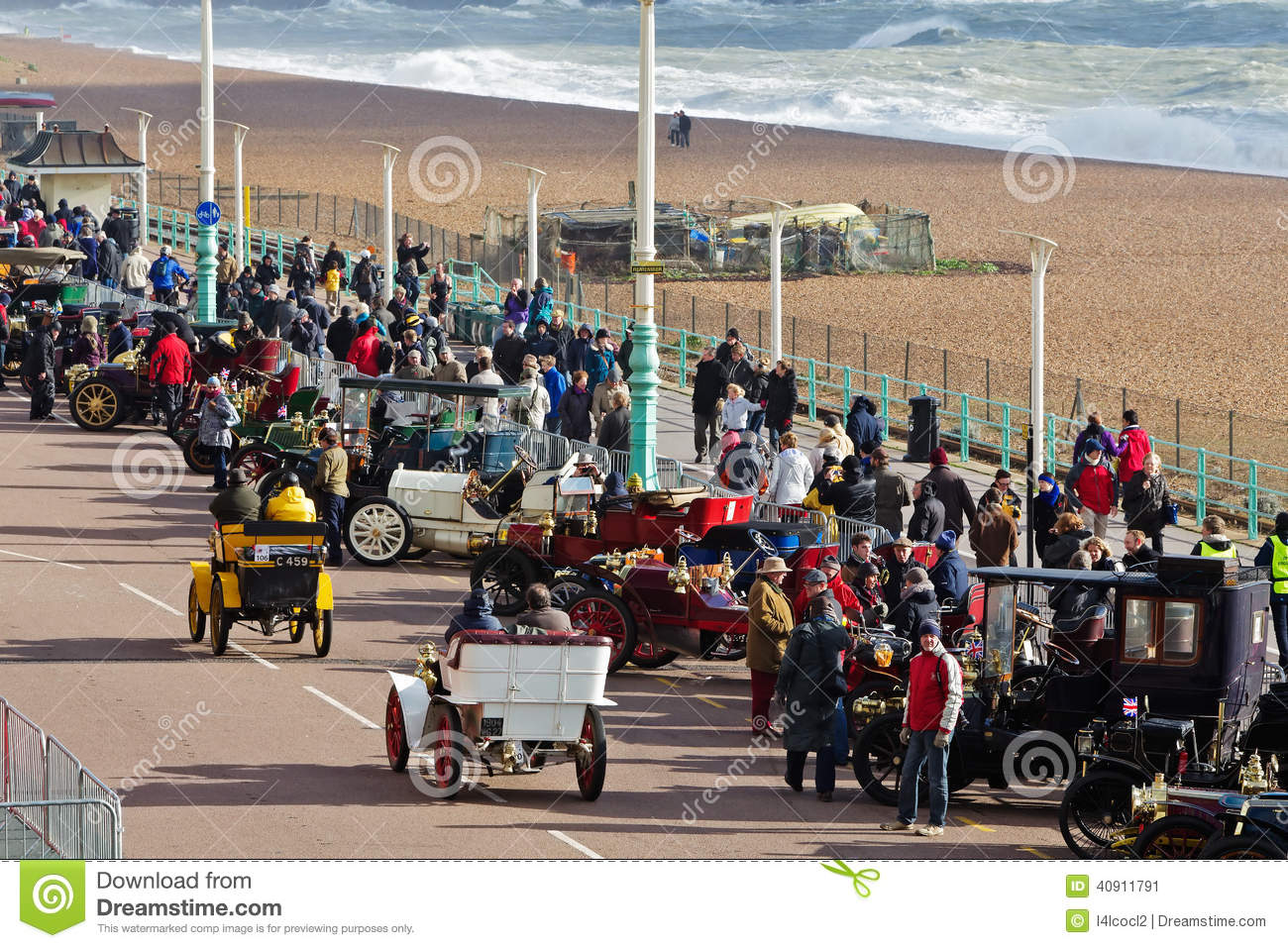 Veteran car rally editorial photo. Image of seafront - 40911791