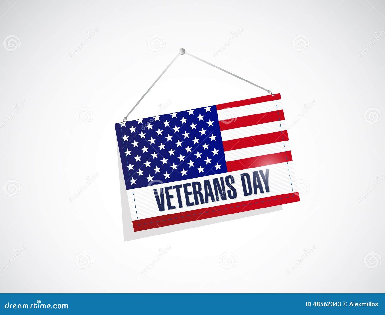 Veteranendag ons hangende vlagillustratie