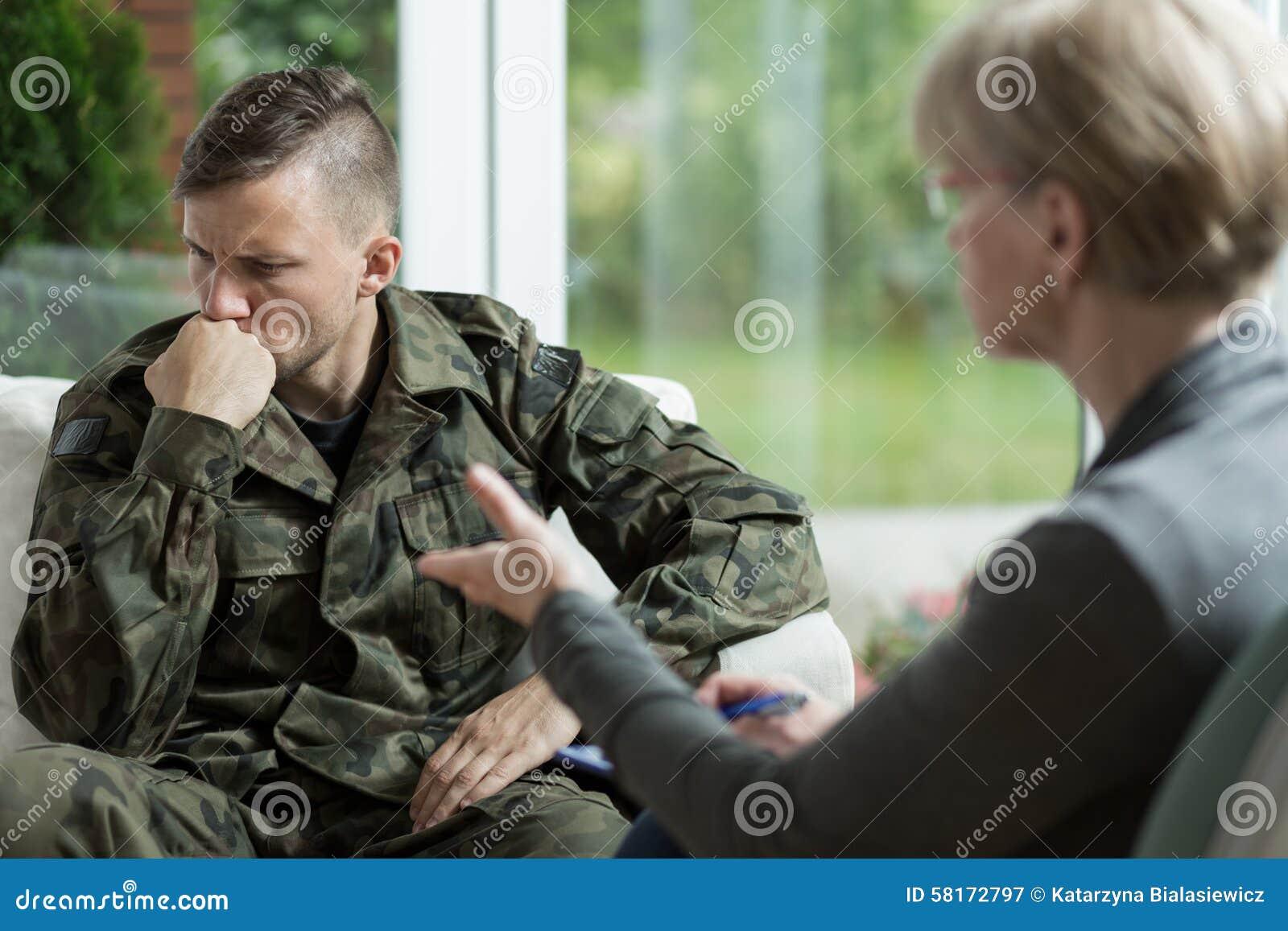 Veterano de guerra com problemas