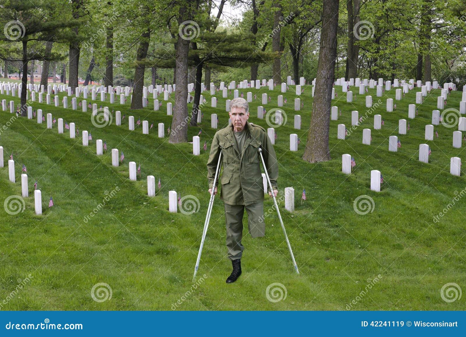 Veterano ferido do combate do guerreiro, soldado Hero, sacrifício