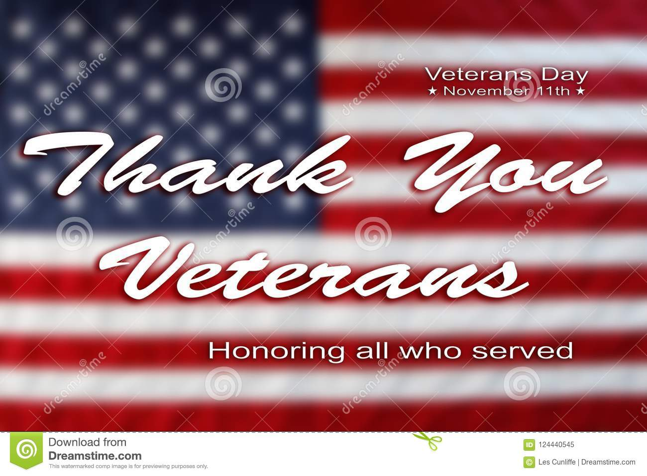 Veterans Day American Flag Stock Image Image Of Military 124440545