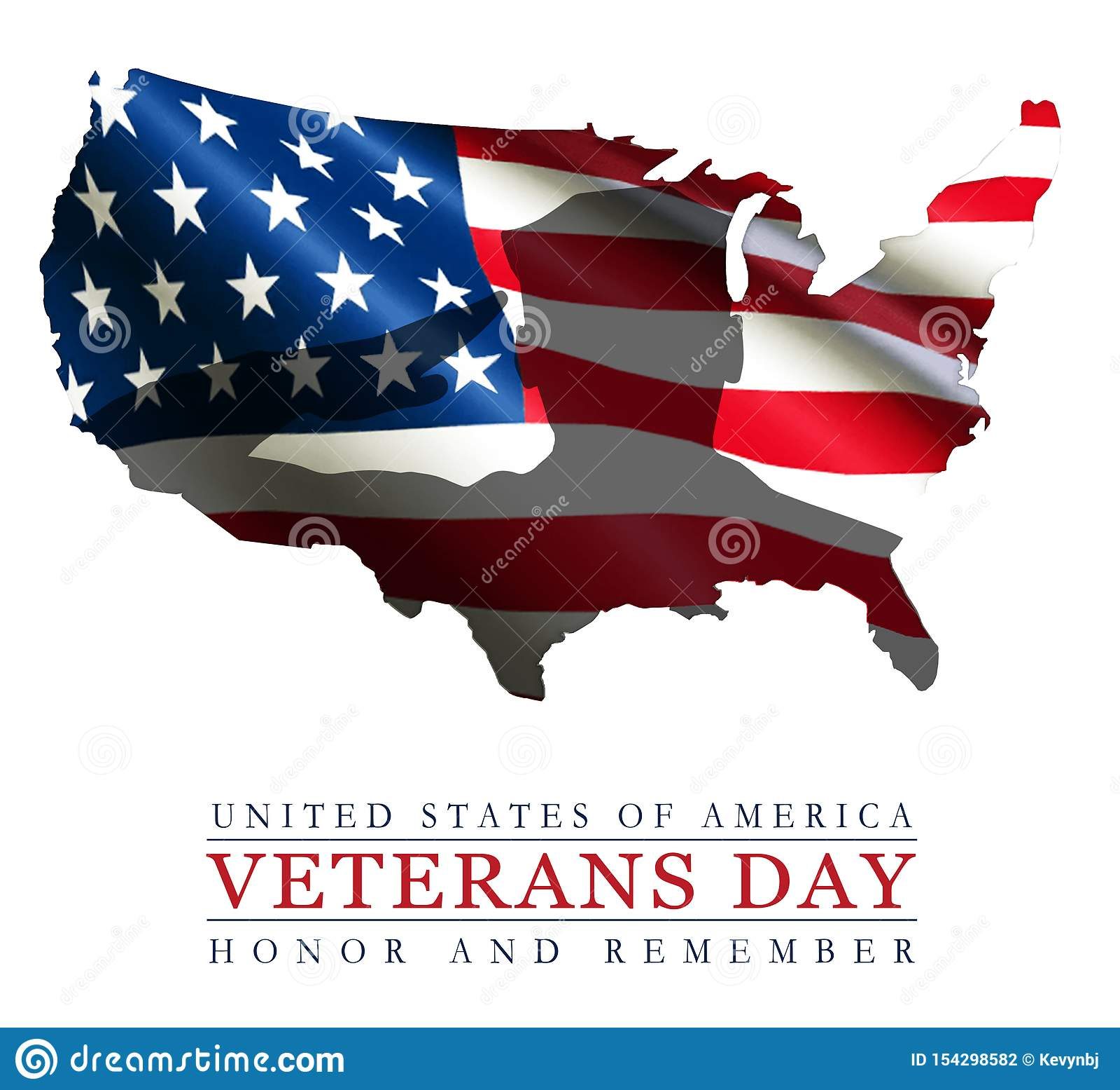 Veterans Day Art Logo American Flag USA Outline