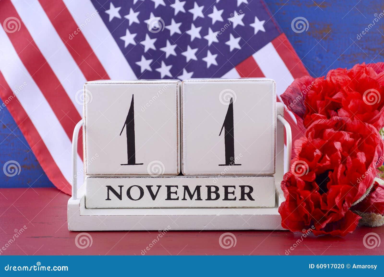 veterans day calendar for november 11 stock photo image 60917020