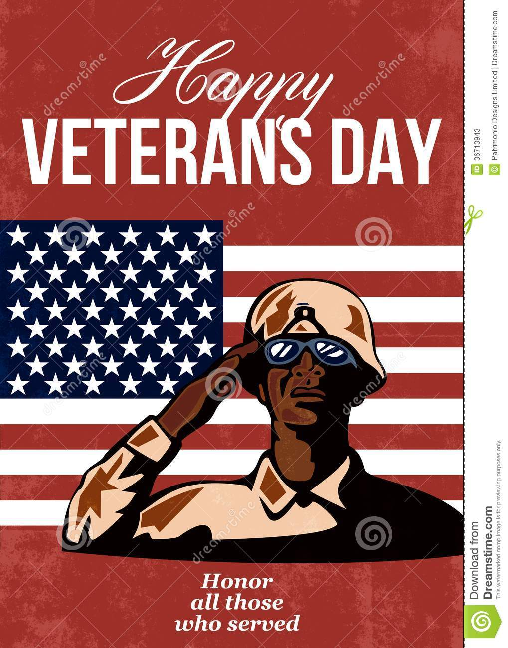 Veterans Day Greeting Card American Stock Photos - Image: 36713943