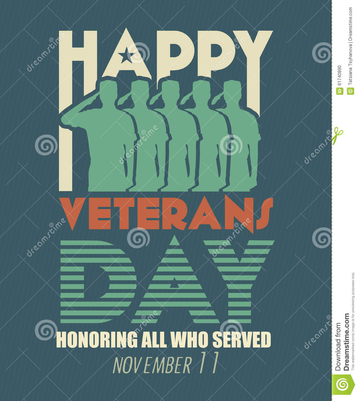 Veterans Day Greeting Card Us Military Armed Forces Soldier In