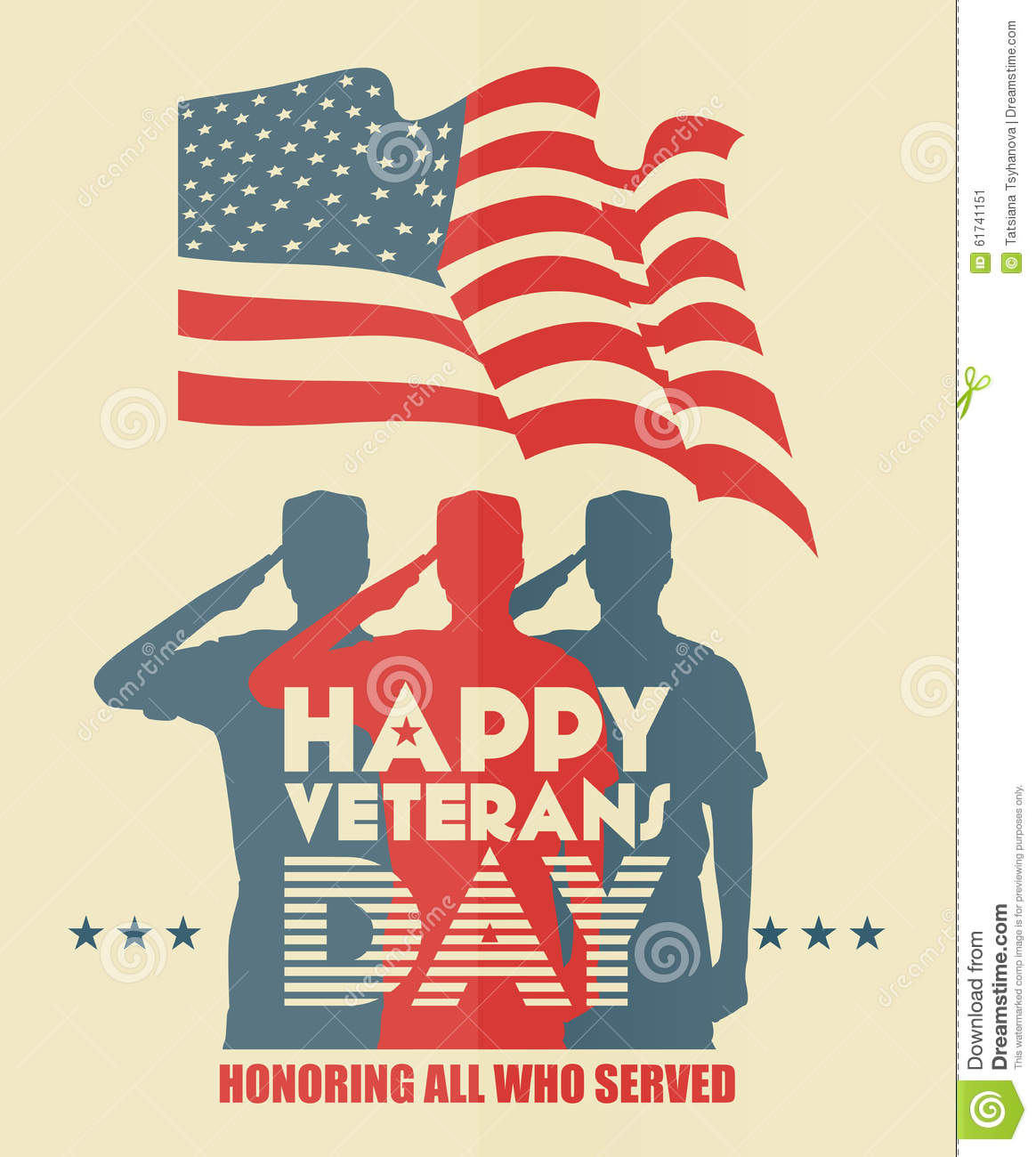 Veterans day greeting card us soldier in silhouette saluting stock veterans day greeting card us soldier in silhouette saluting m4hsunfo