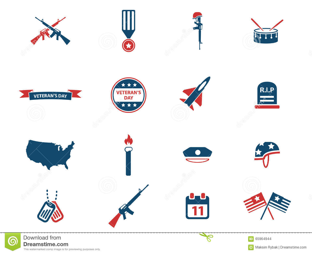 Veterans day simply icons stock vector illustration of date veterans day simply icons biocorpaavc