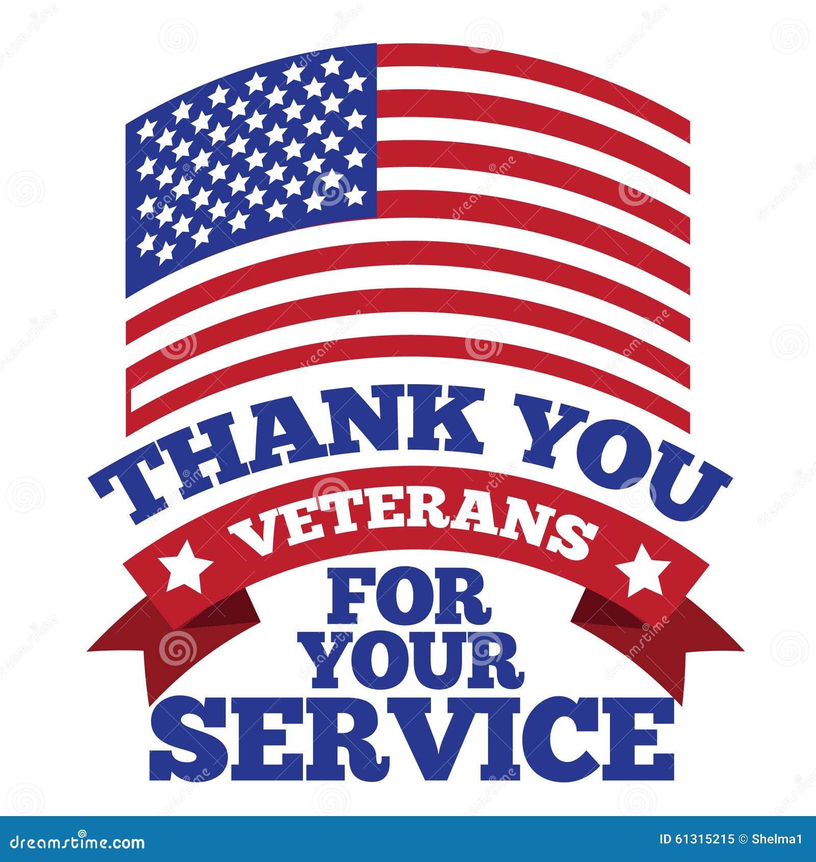 Veterans Day Thank You Design Stock Vector Illustration Of