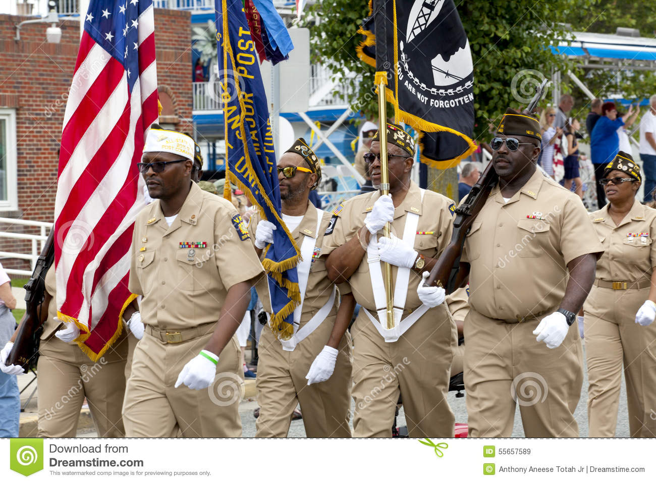 Veterans Of Foreign Wars (VFW) Parade Editorial Stock Image