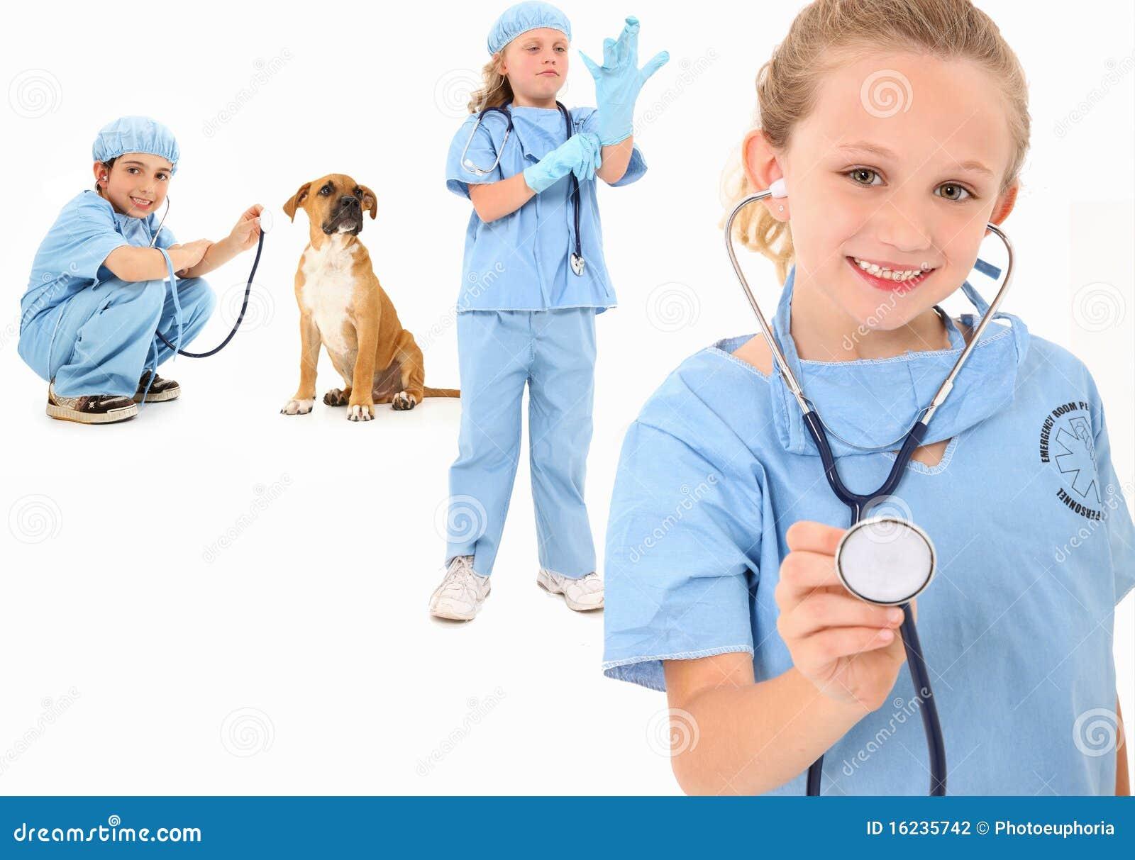 Veterinários do miúdo