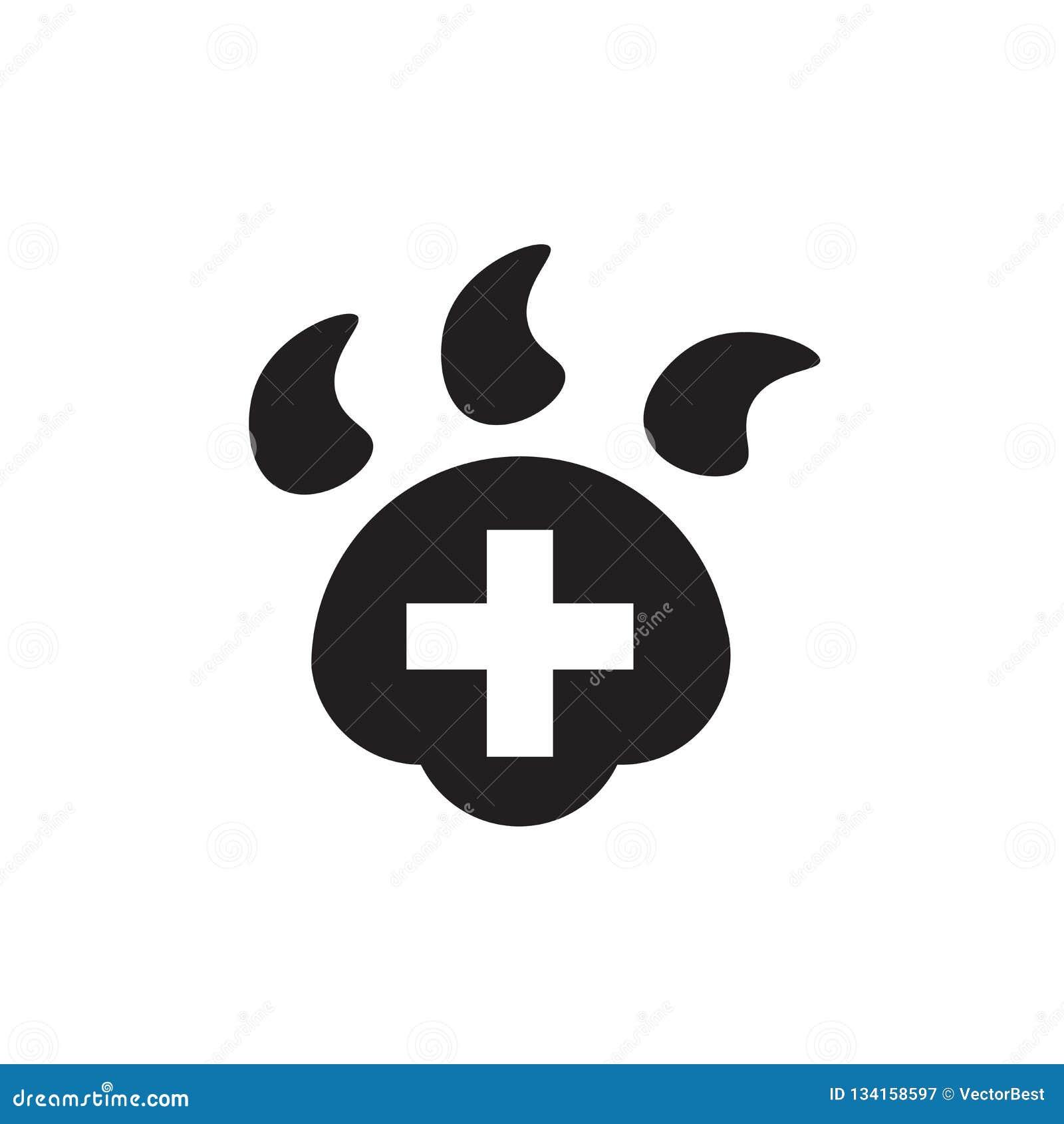 Veterinair Hospital-pictogram vectordieteken en symbool op witte achtergrond, Veterinair Hospital-embleemconcept wordt geïsoleerd