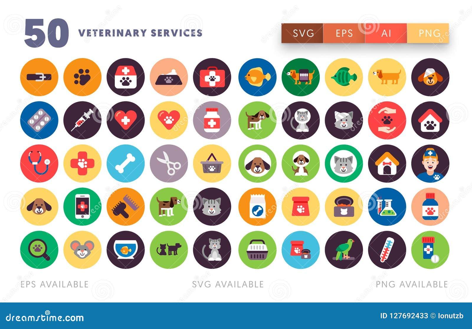 50 veterinaire Pictogrammen
