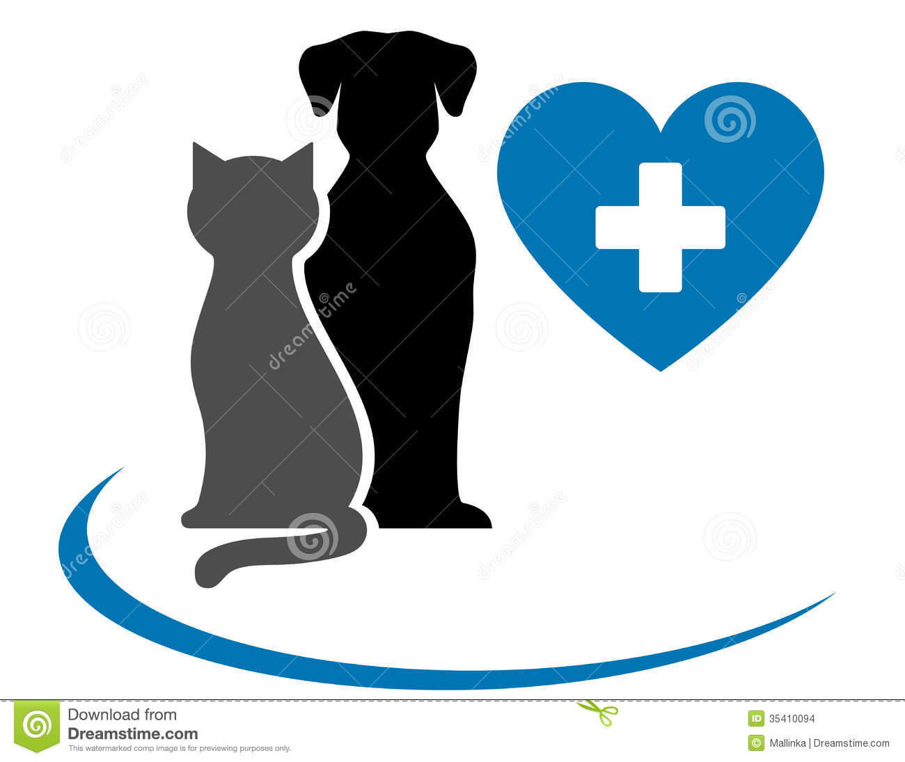 Veterinarian Icon With Blue Heart, Pets And Cross Stock ...