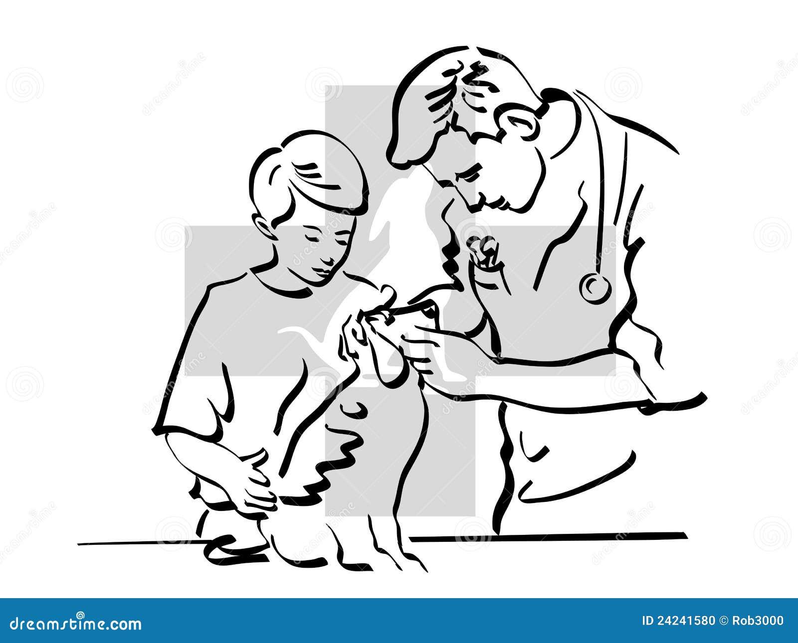 Veterinario ilustración del vector. Ilustración de caballo - 24241580