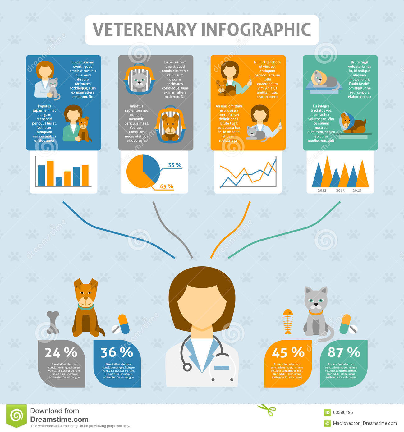 Veterinary Clinic Infographic Chart Banner Stock Vector - Image ...