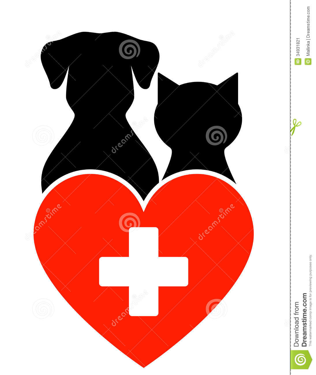 veterinary sign with dog and cat stock vector   image