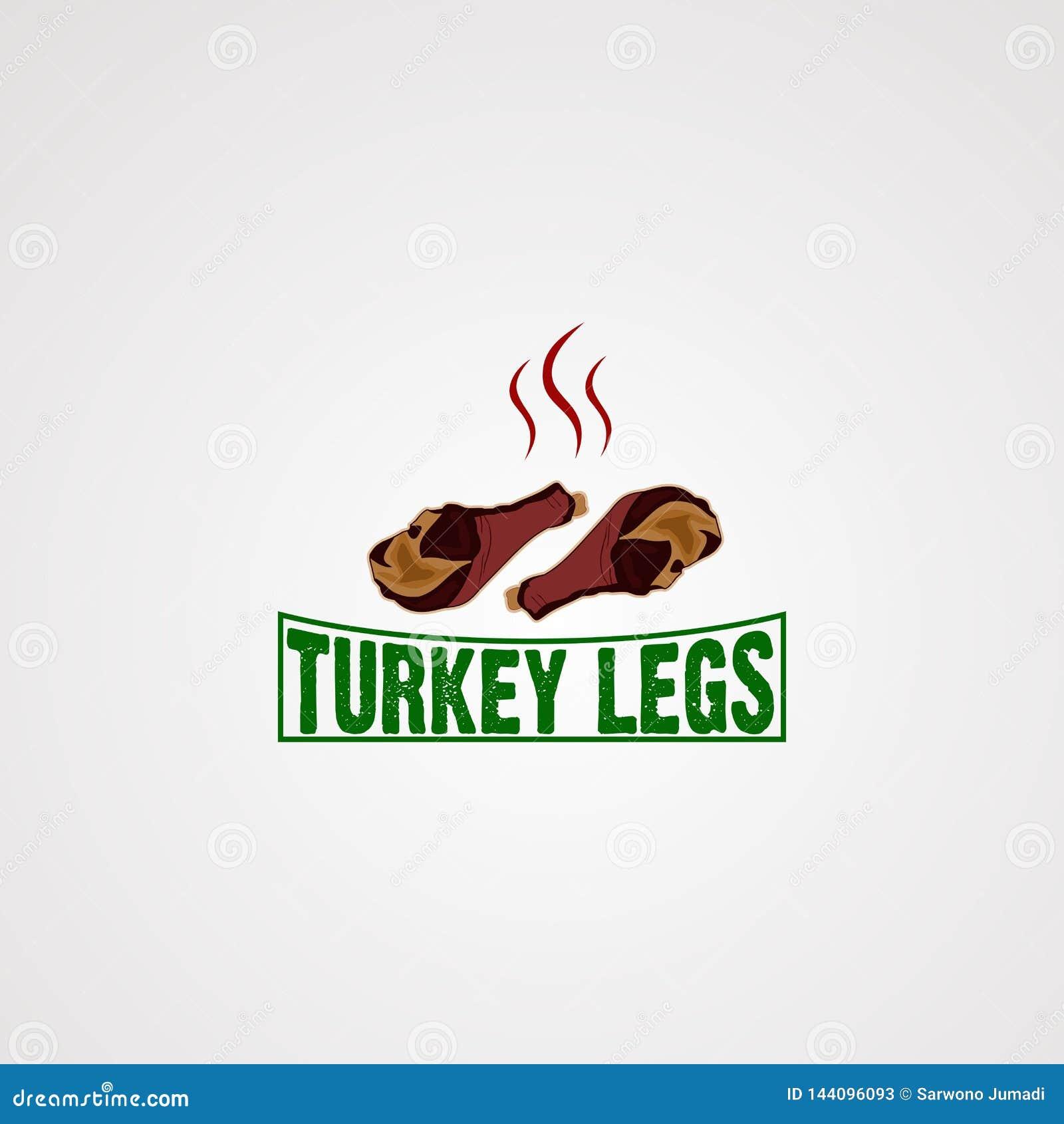 Vetor, ícone, elemento, e molde do logotipo do pé de turquia para o negócio
