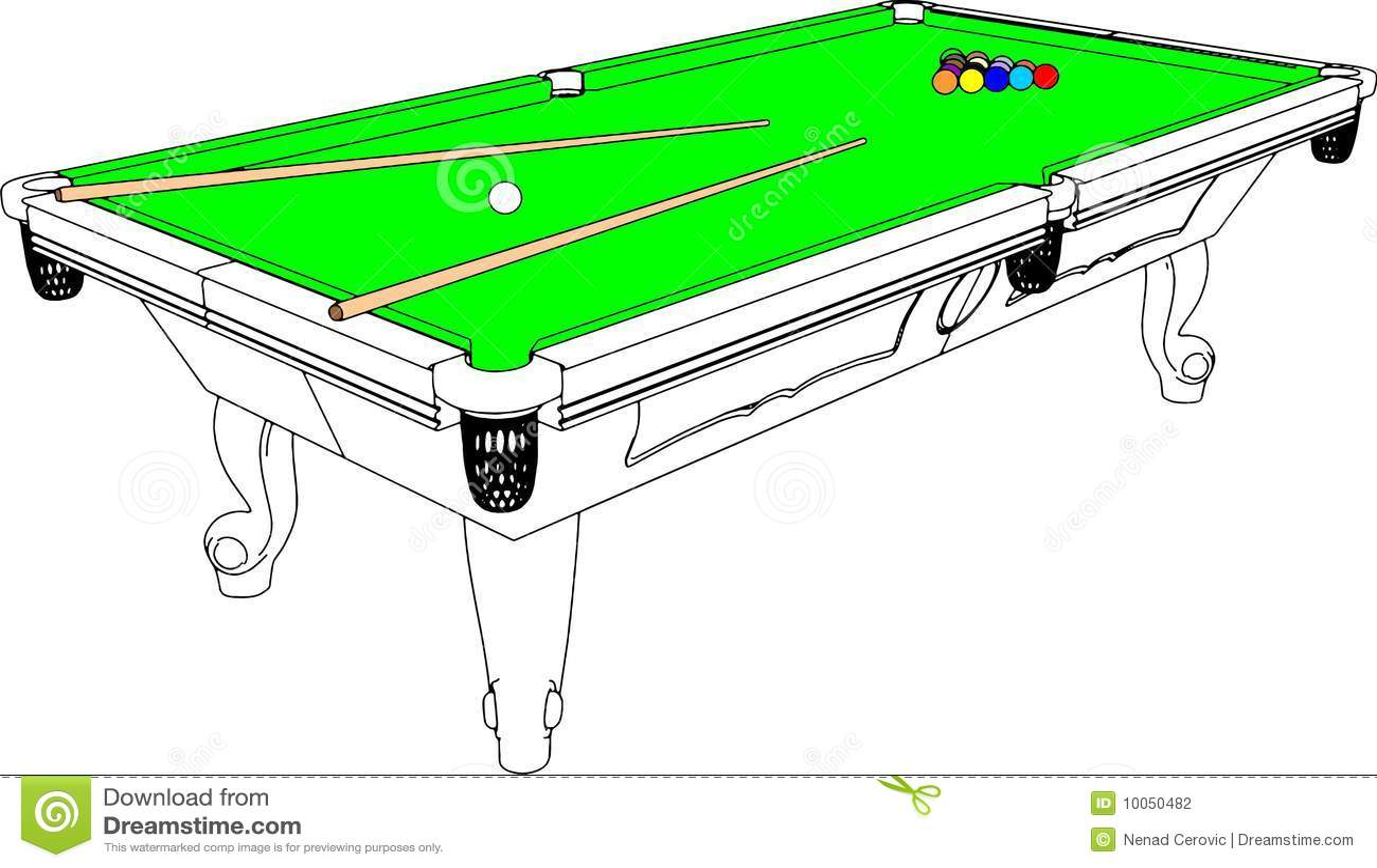 Vetor 01 da perspectiva da tabela de Snooker dos bilhar