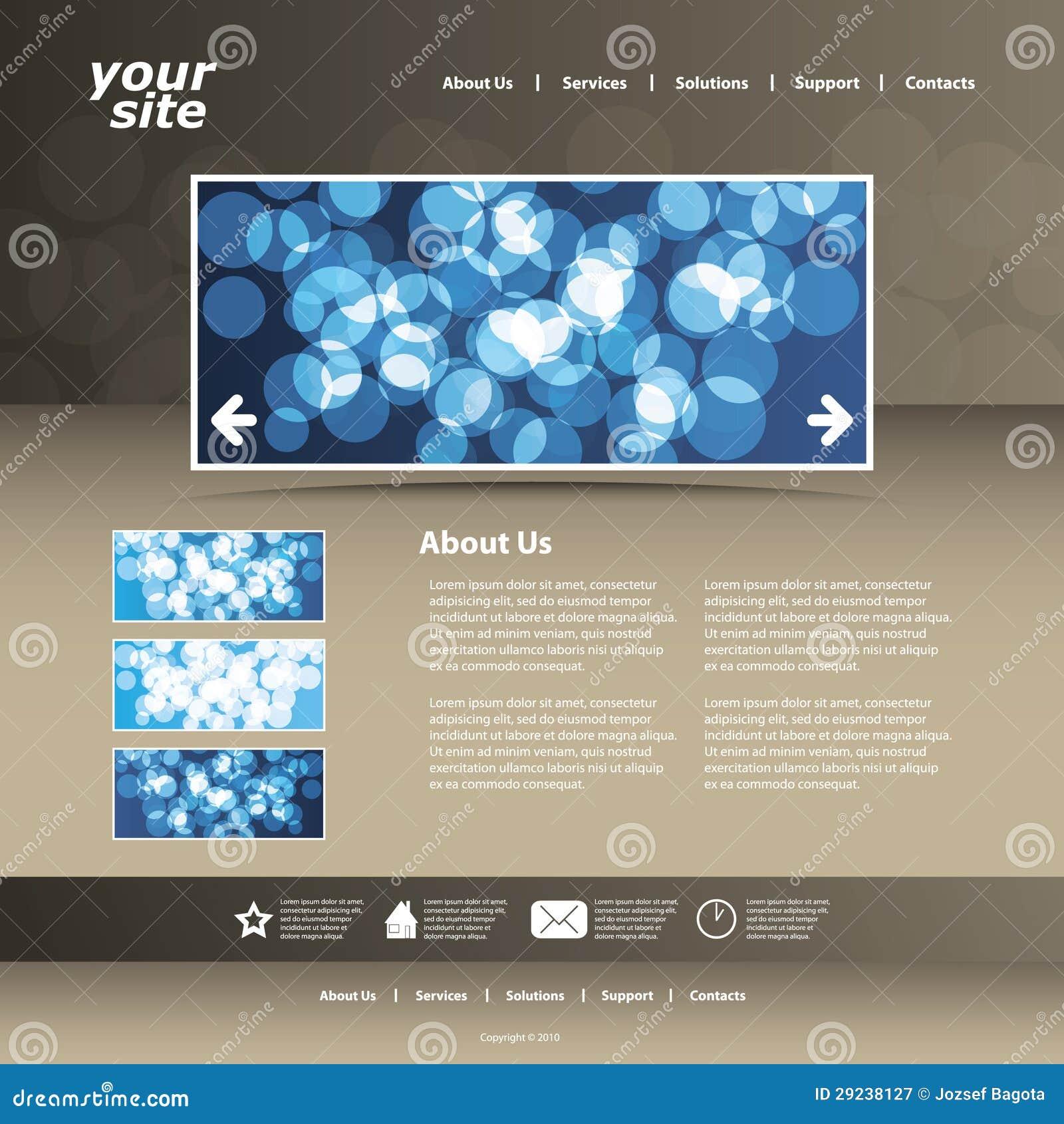 Download Vetor Abstrato Do Molde Do Projeto Do Web Site Do Negócio Ilustração do Vetor - Ilustração de jornal, galeria: 29238127