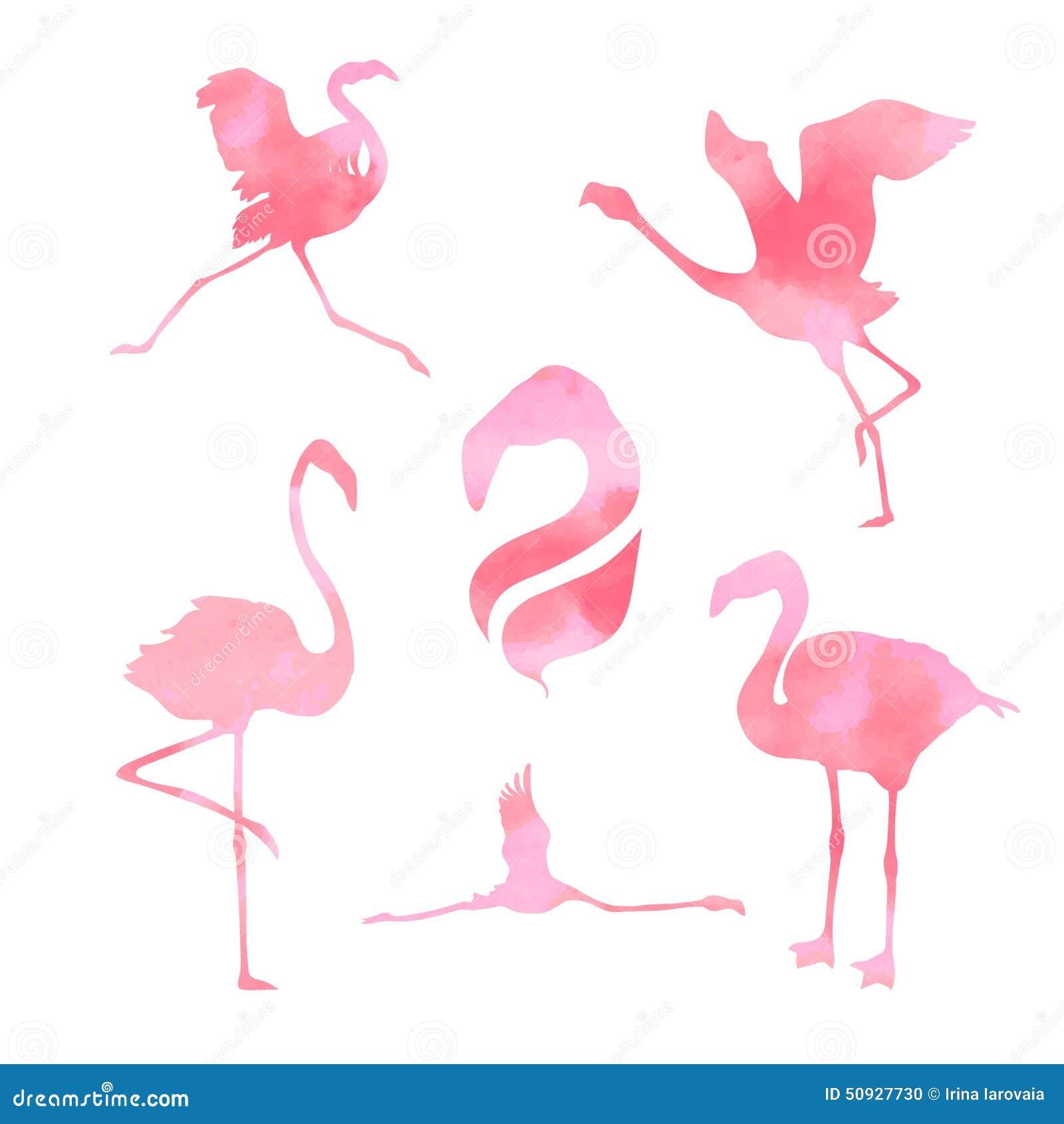 Vetor ajustado do flamingo