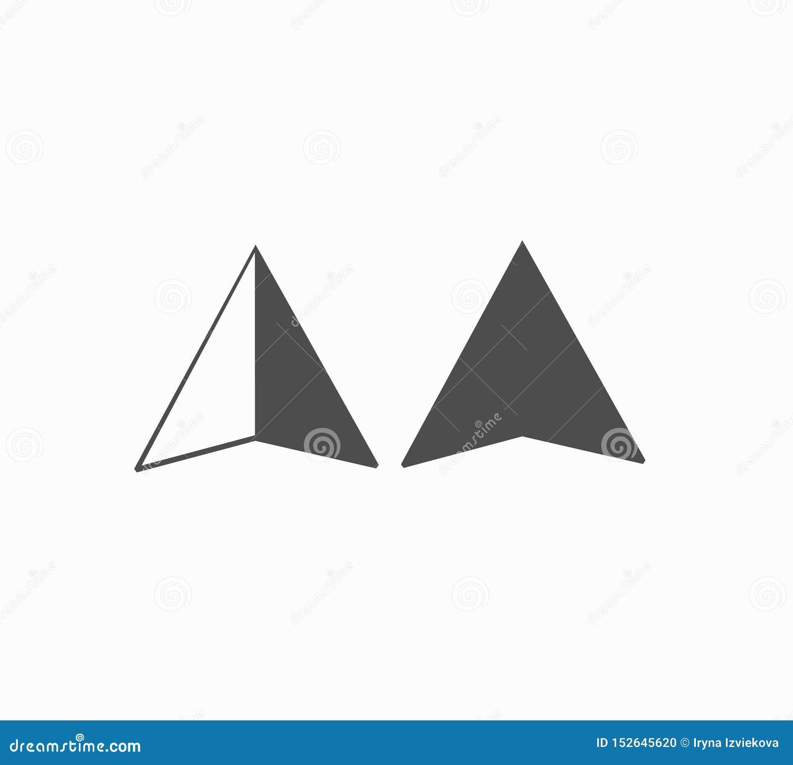 Vetor ajustado - geolocation liso dos ícones do projeto, lugar, busca do mapa ?cone do vetor para o smartphone ou o site