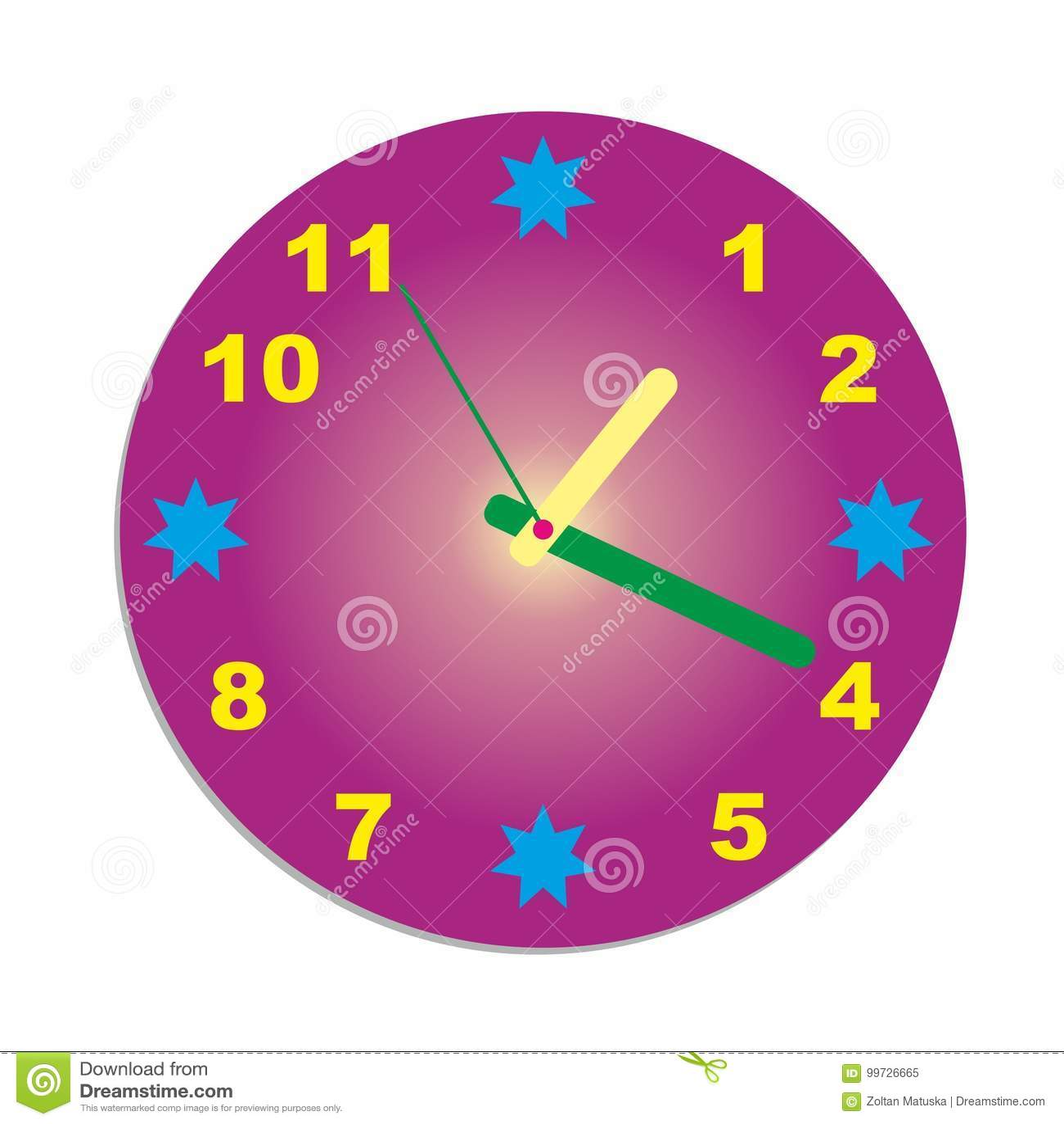f8e837139ac Vetor azul da forma do círculo do relógio colorido do conceito do pulso de  disparo de parede
