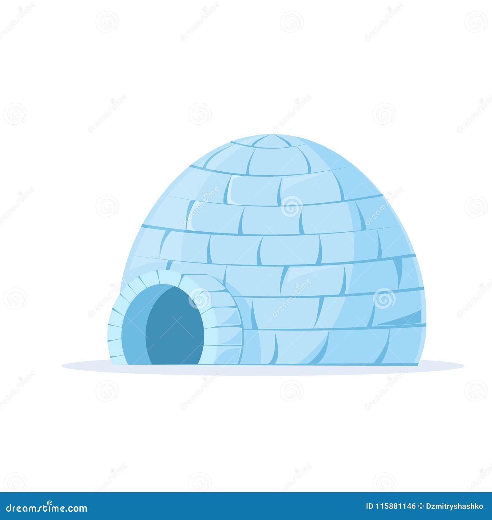 Vetor congelado do iglu