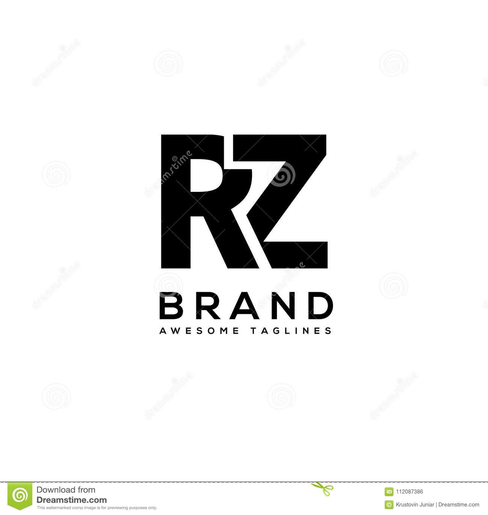 e0a95e1a7 Vetor Corajoso Forte Do Logotipo Do Esporte Do Rz Da Letra ...