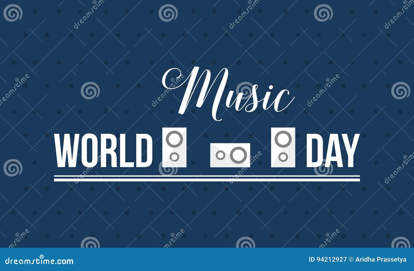 Vetor da bandeira do estilo do dia da música do mundo liso
