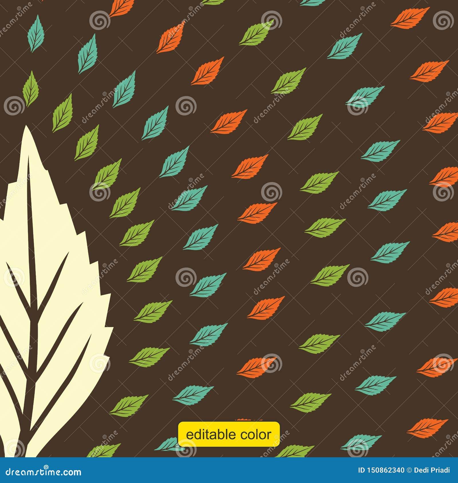 Vetor da cor da folha do teste padrão da cópia