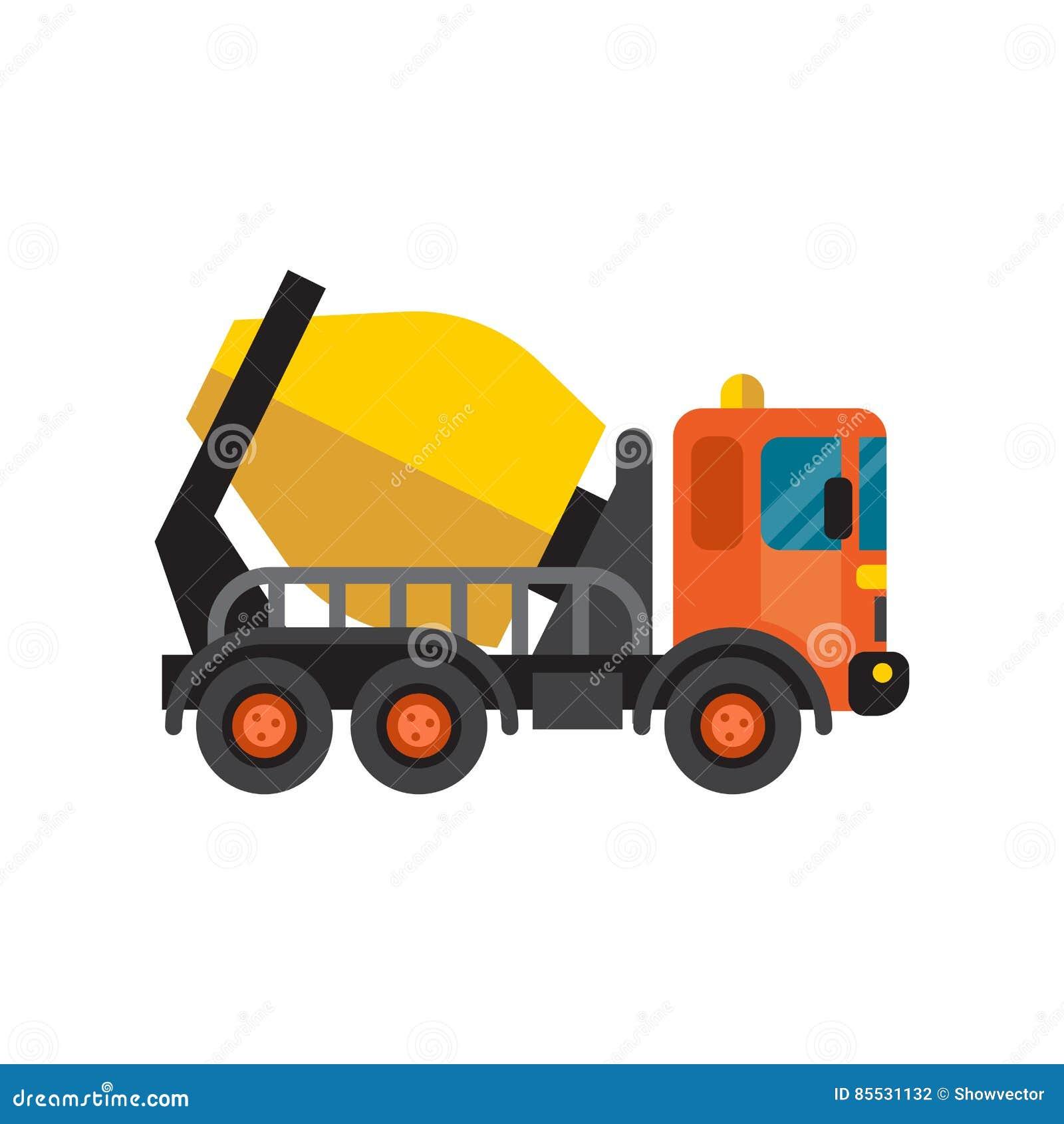 Vetor da máquina do equipamento da indústria de cimento do caminhão do misturador concreto
