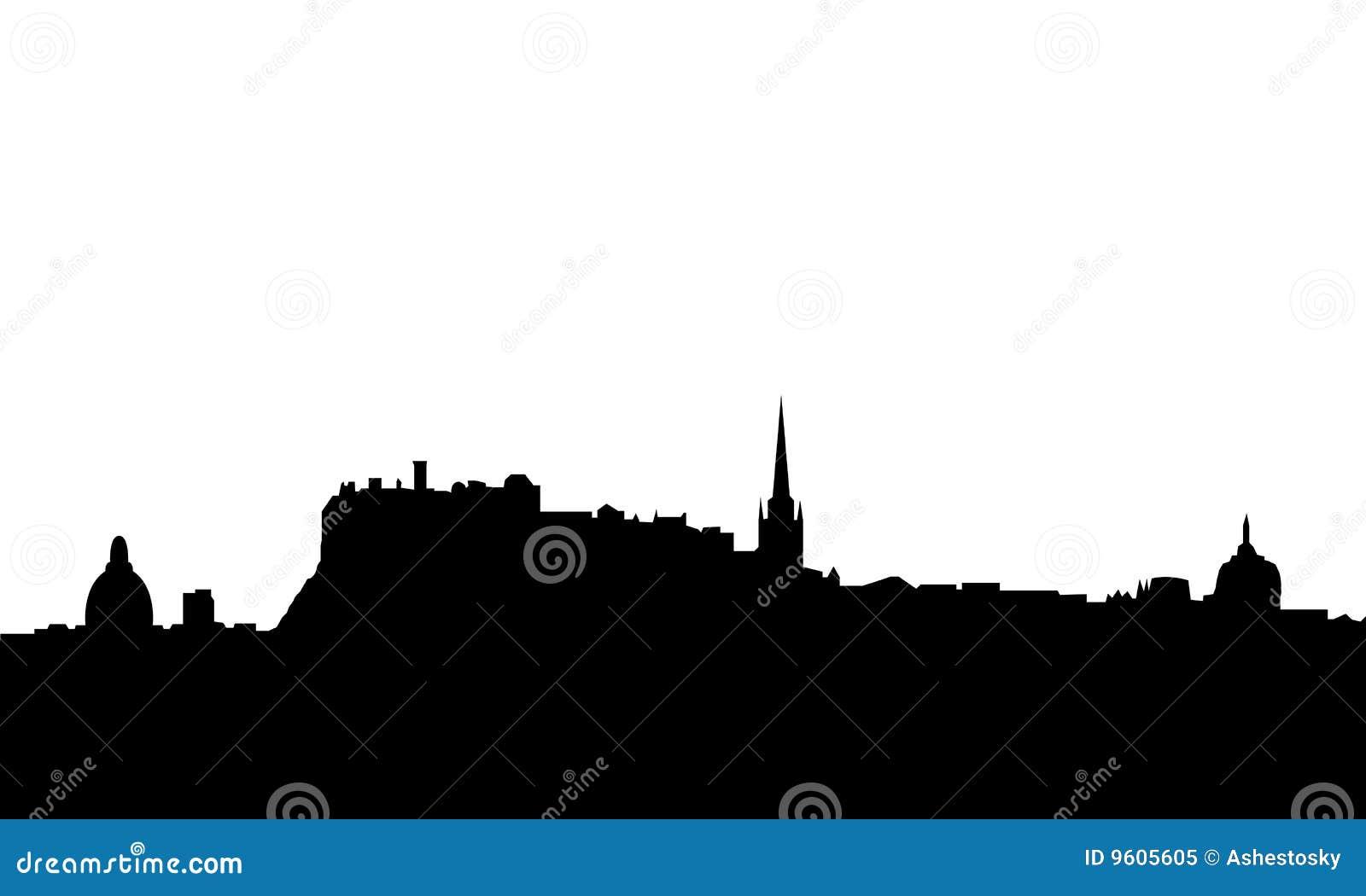 Vetor da skyline de Edimburgo isolado